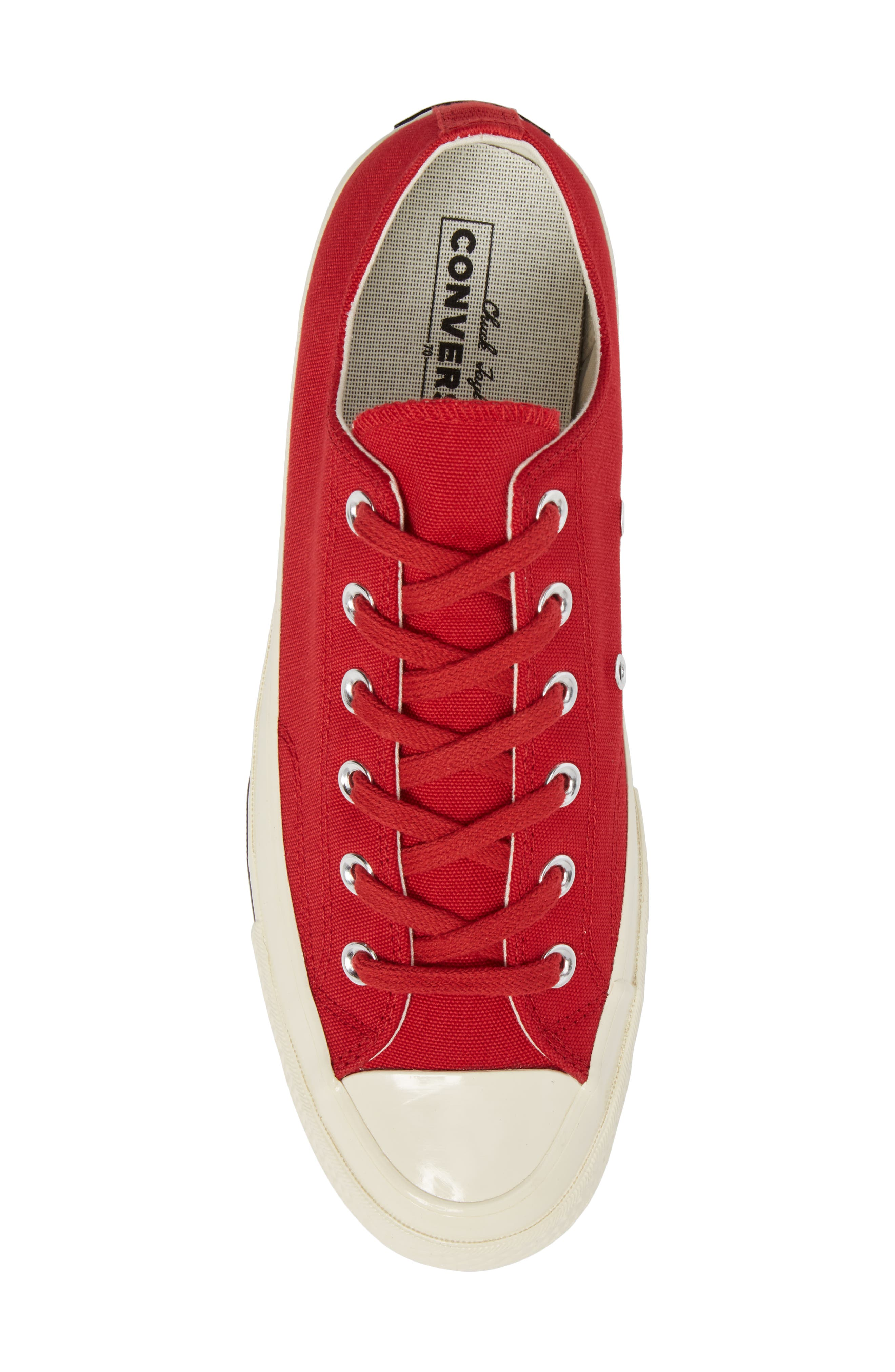 Chuck Taylor<sup>®</sup> All Star<sup>®</sup> '70s Heritage Low Top Sneaker,                             Alternate thumbnail 5, color,                             Gym Red