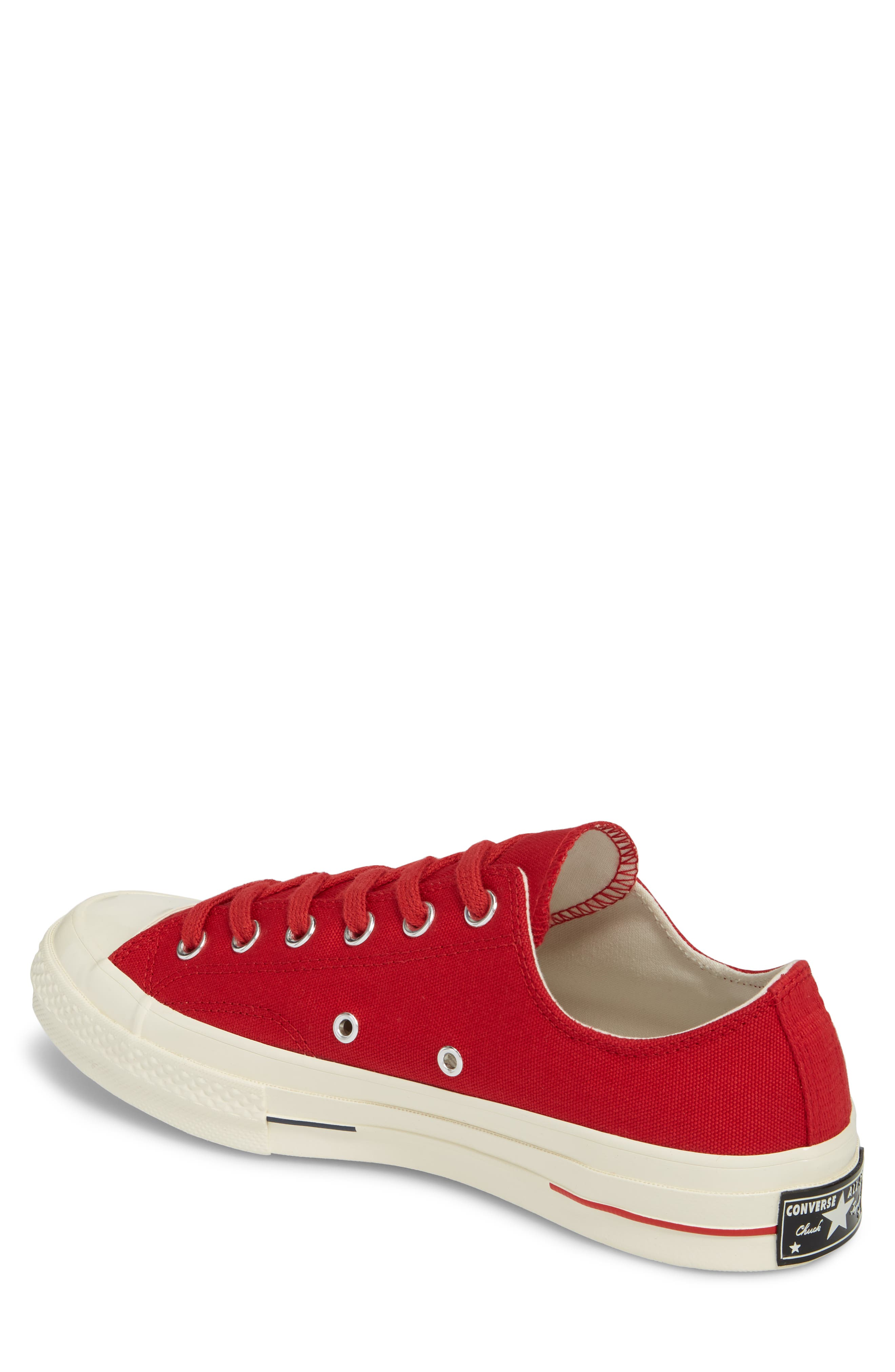 Chuck Taylor<sup>®</sup> All Star<sup>®</sup> '70s Heritage Low Top Sneaker,                             Alternate thumbnail 2, color,                             Gym Red
