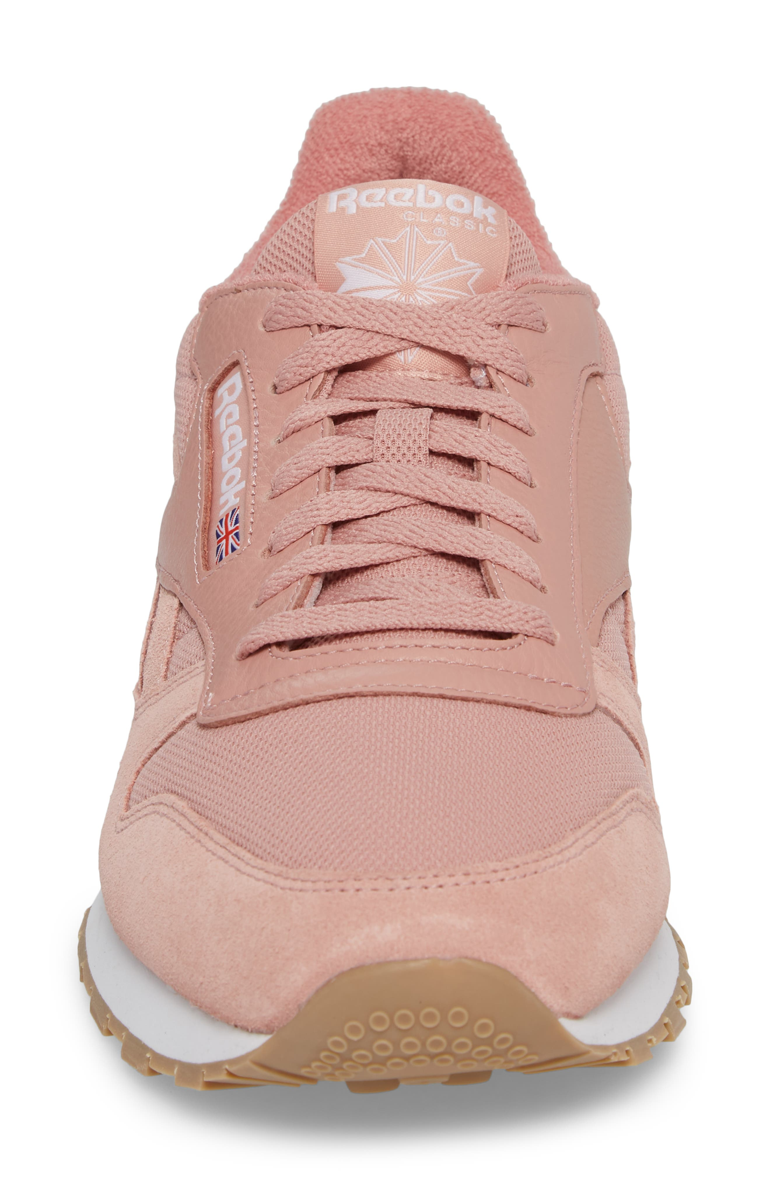ESTL Classic Leather Sneaker,                             Alternate thumbnail 4, color,                             Chalk Pink/ White