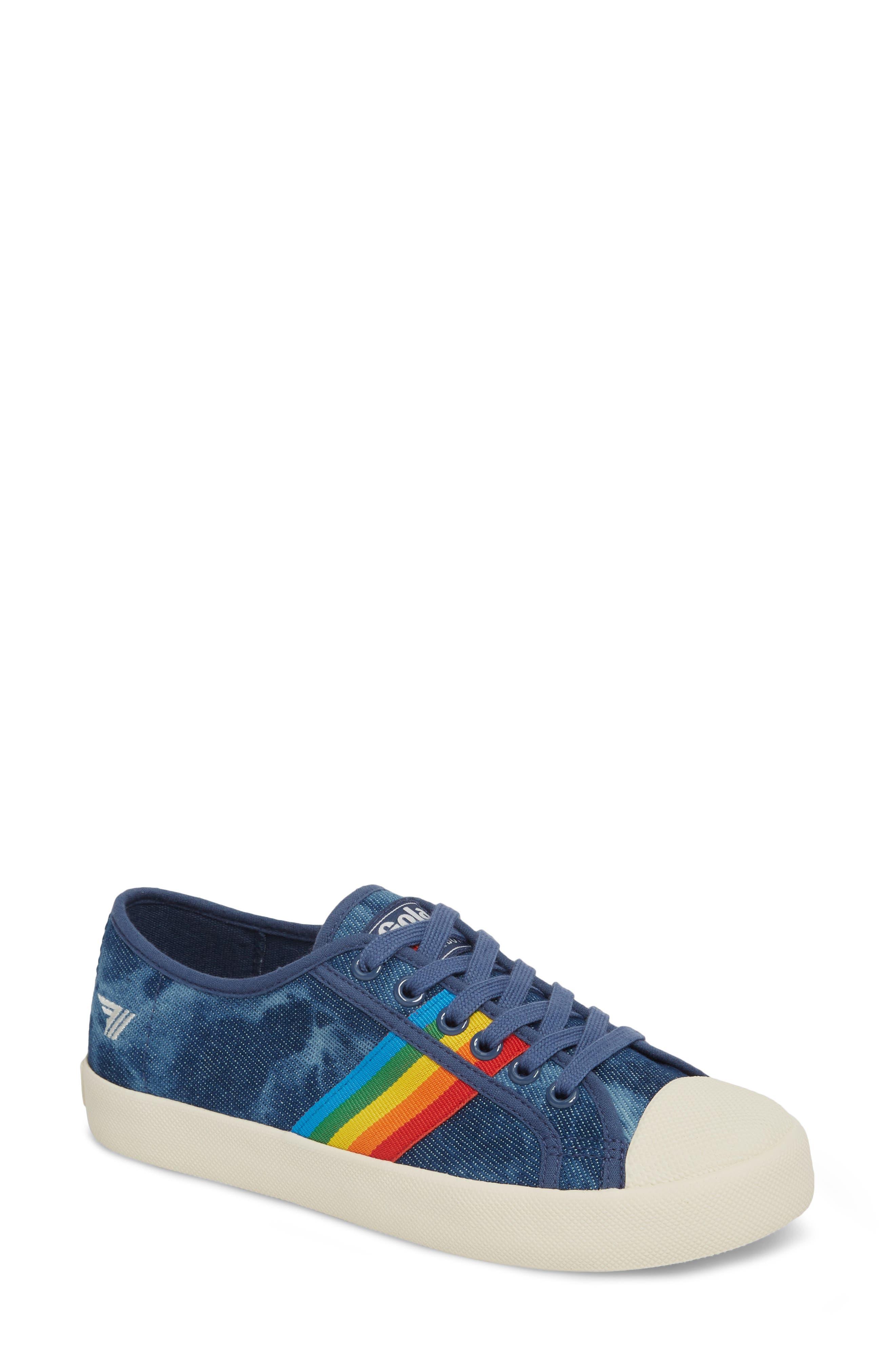 Alternate Image 1 Selected - Gola Coaster Rainbow Striped Sneaker (Women)