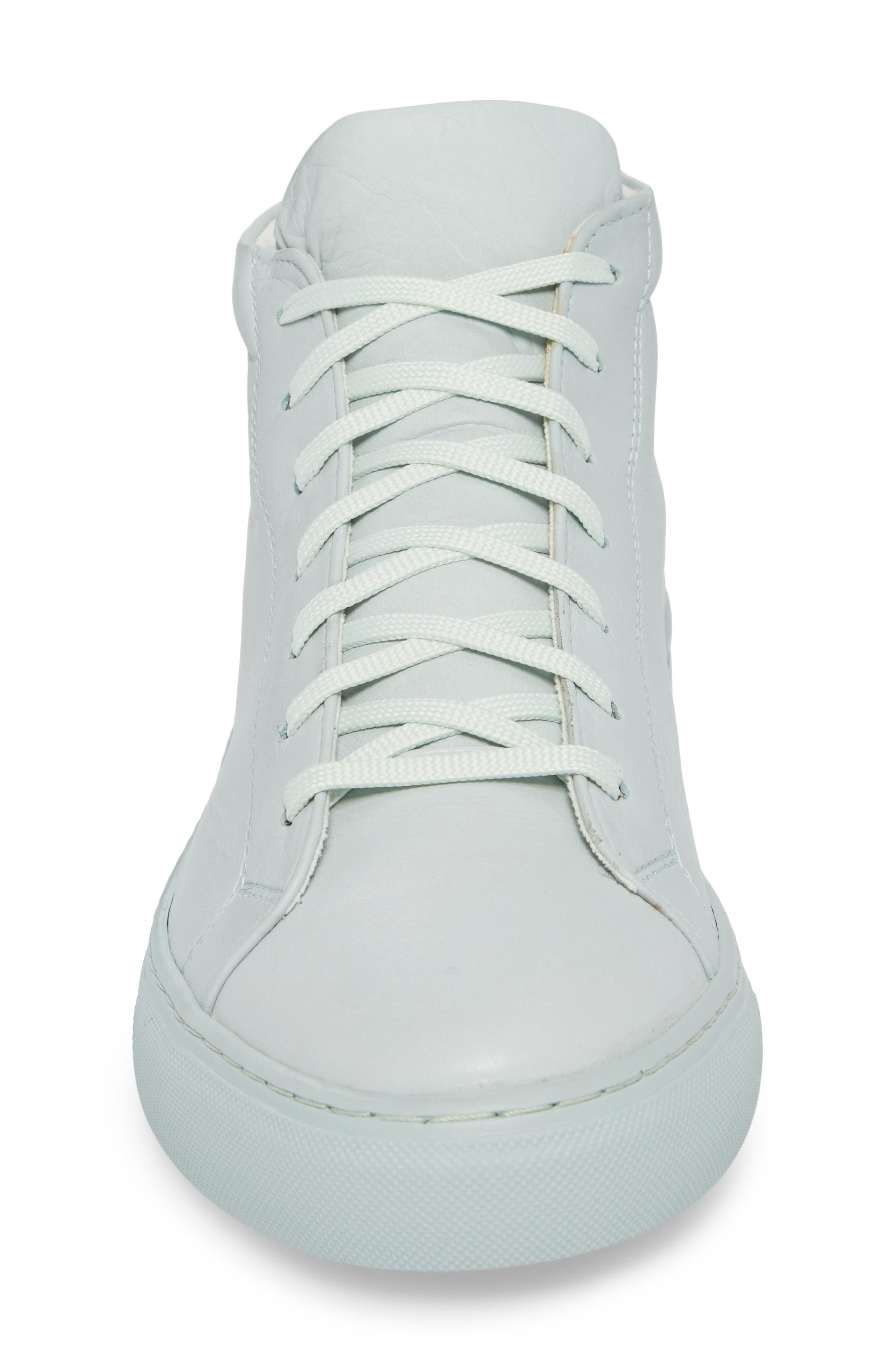 Lexington Mid Top Sneaker,                             Alternate thumbnail 4, color,                             Mint Green Leather