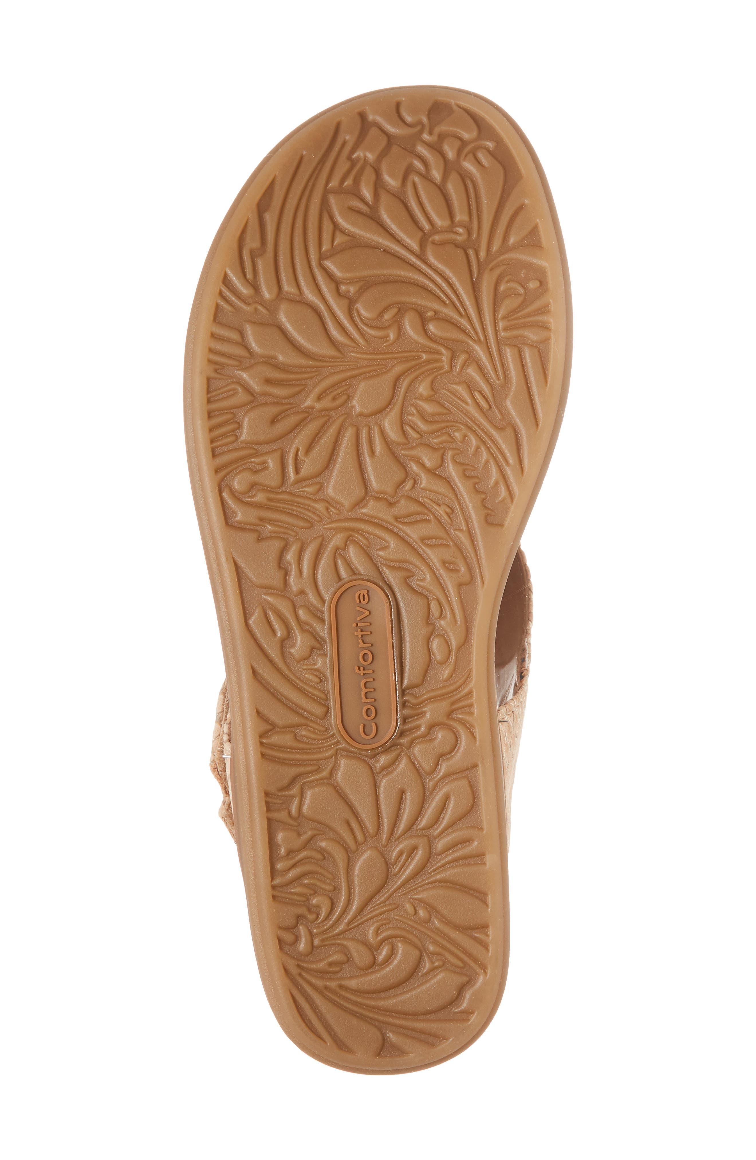 Calina Sandal,                             Alternate thumbnail 6, color,                             Sand Nubuck Leather