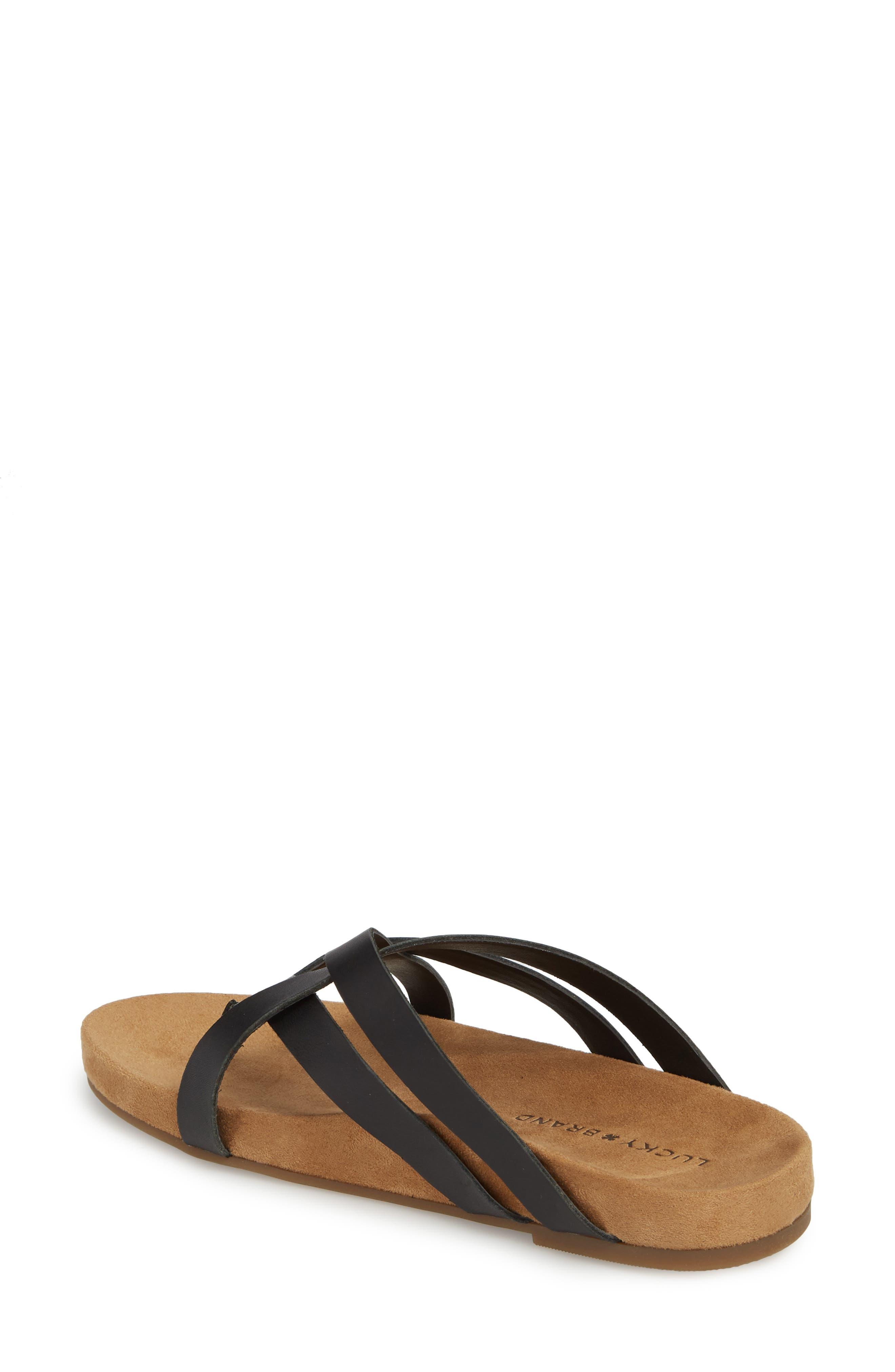 Fillima Flip Flop,                             Alternate thumbnail 2, color,                             Black Leather