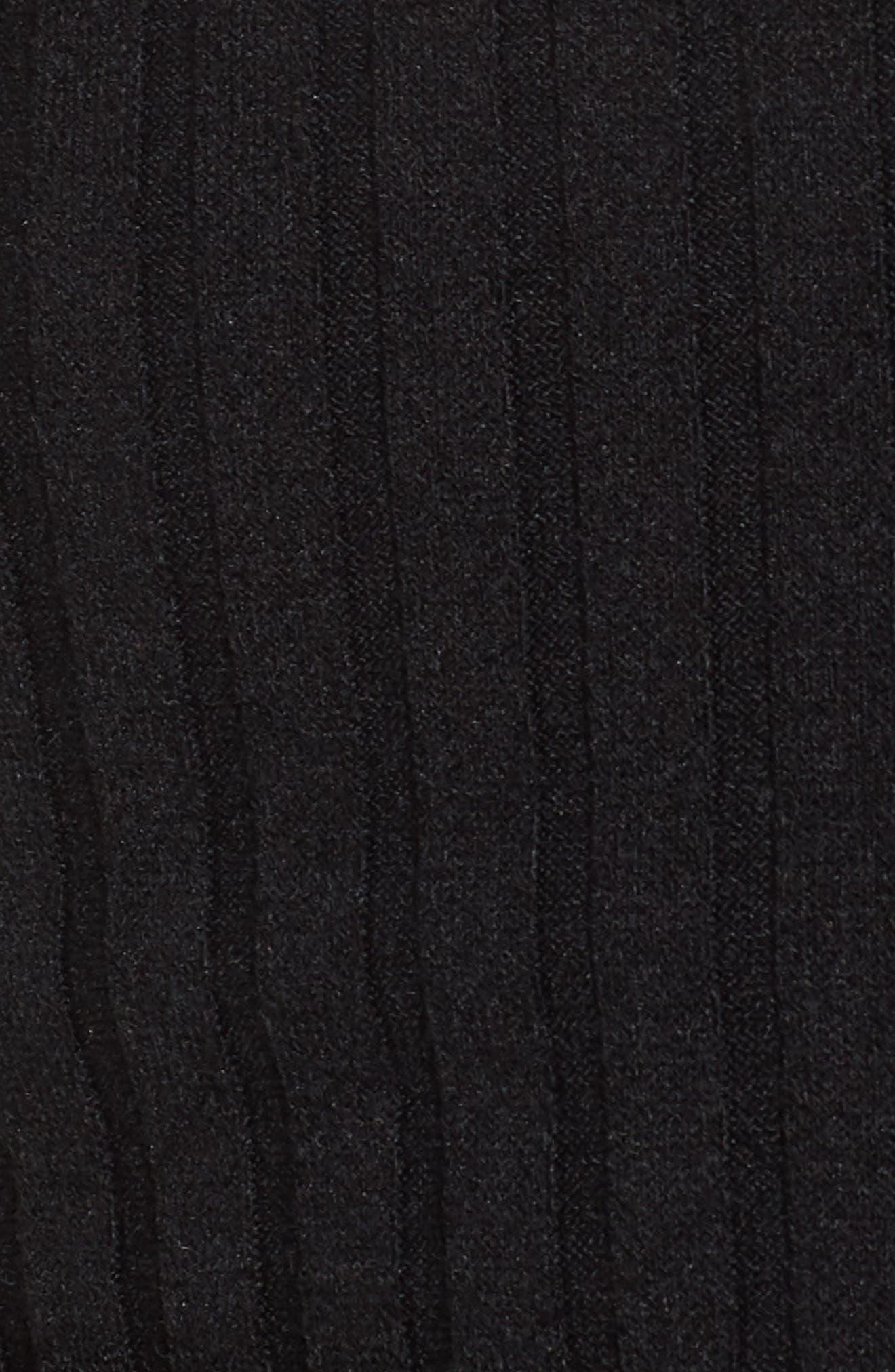 Ruffle Tie Hem Top,                             Alternate thumbnail 6, color,                             Black