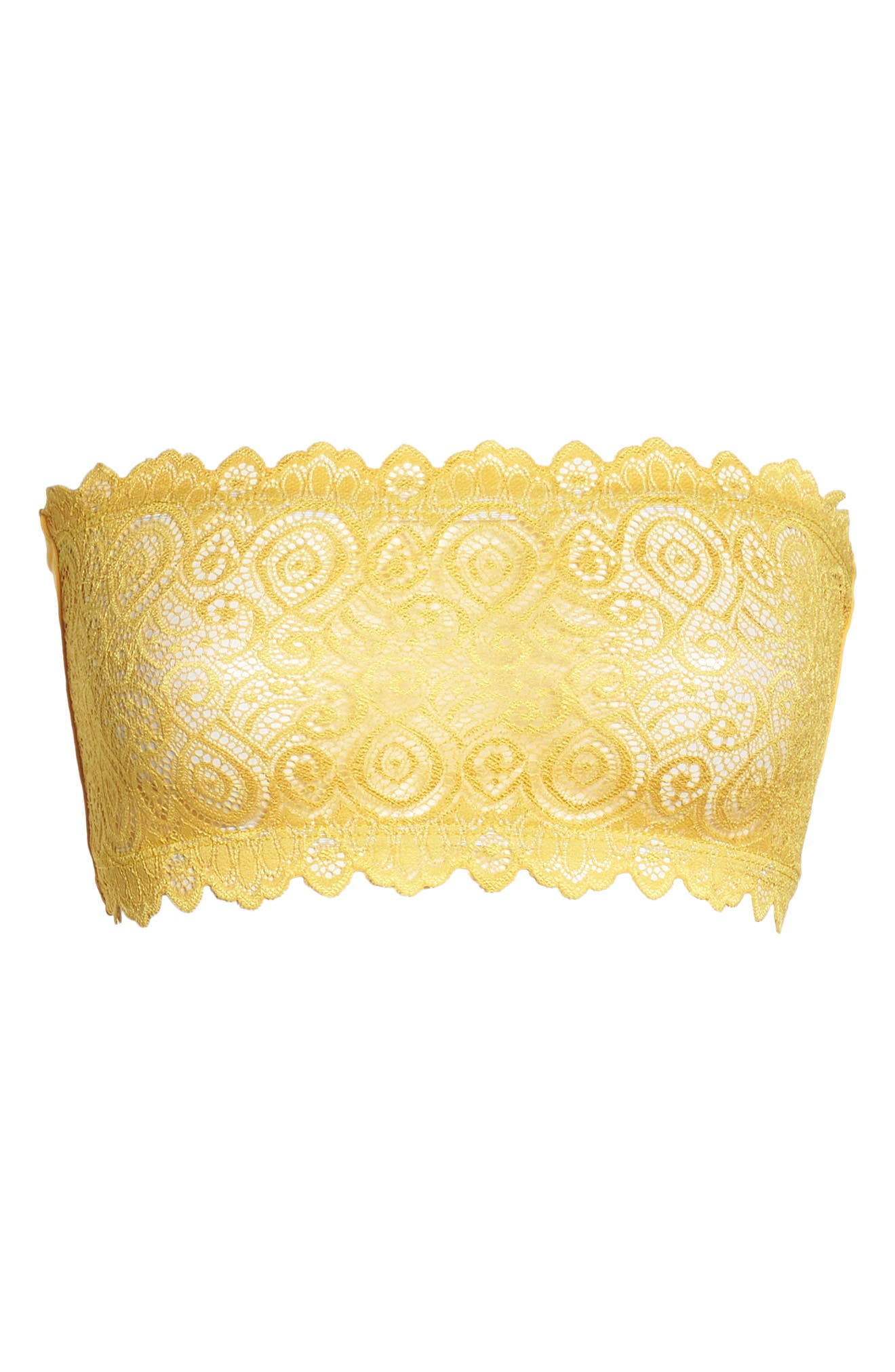 Intimately FP Lace Reversible Seamless Bandeau,                             Alternate thumbnail 5, color,                             Gold