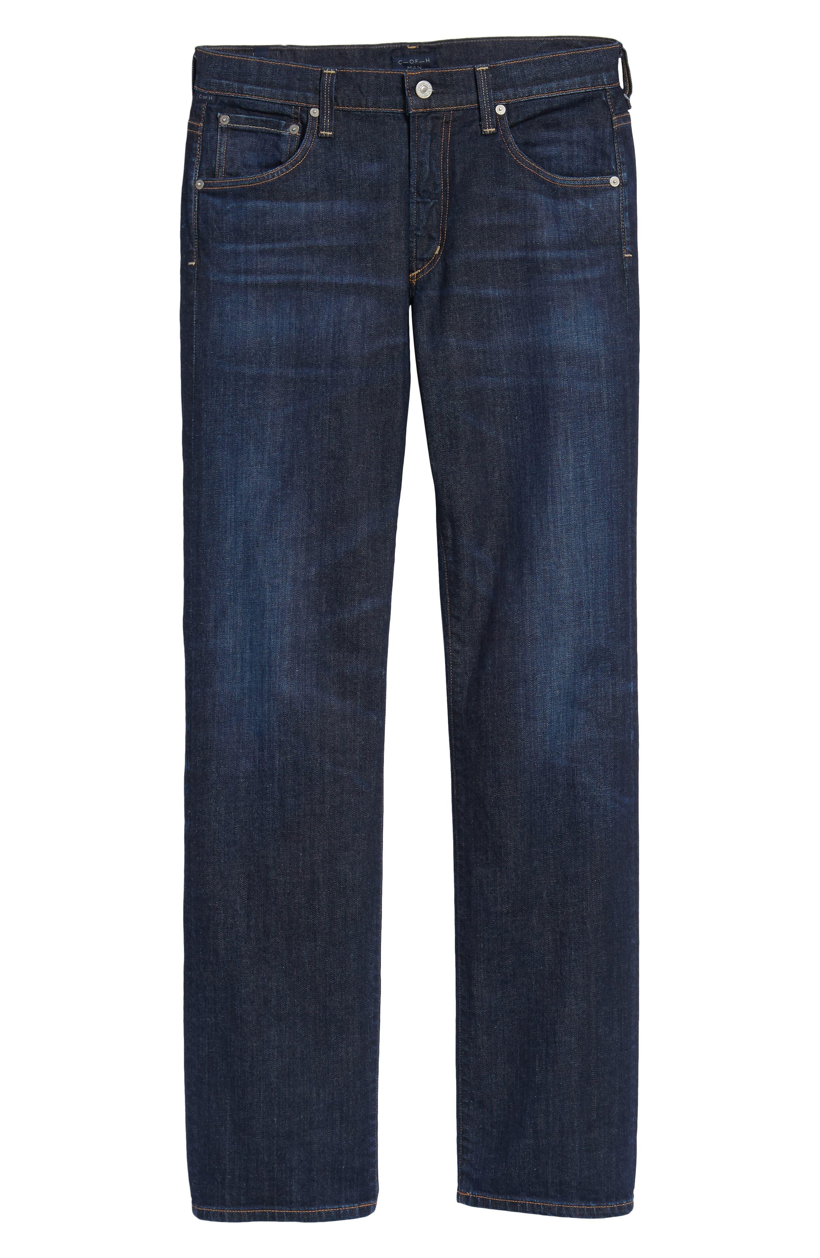Sid Straight Leg Jeans,                             Alternate thumbnail 6, color,                             Emery