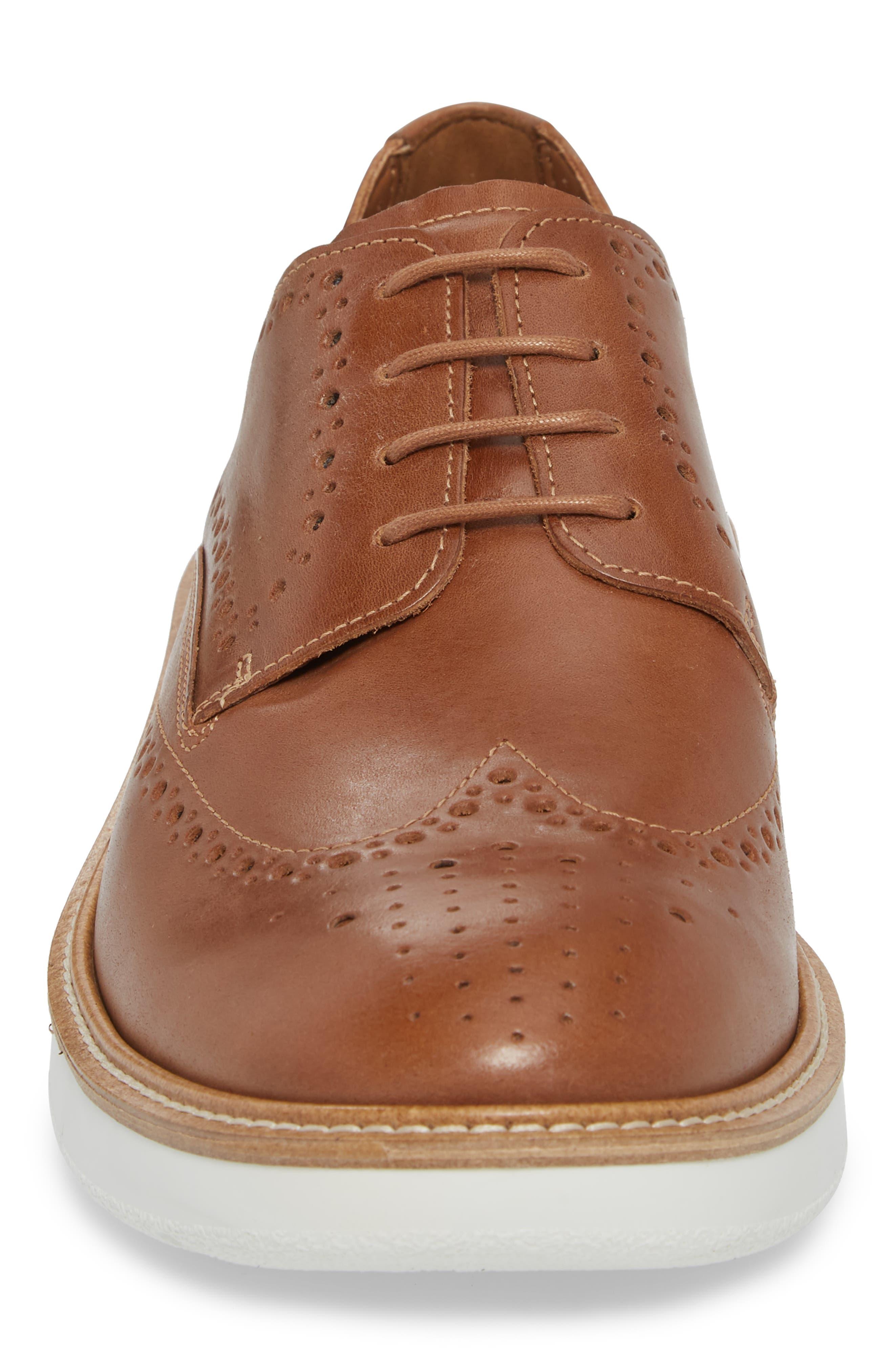Lhasa Wingtip,                             Alternate thumbnail 4, color,                             Cashmere Leather