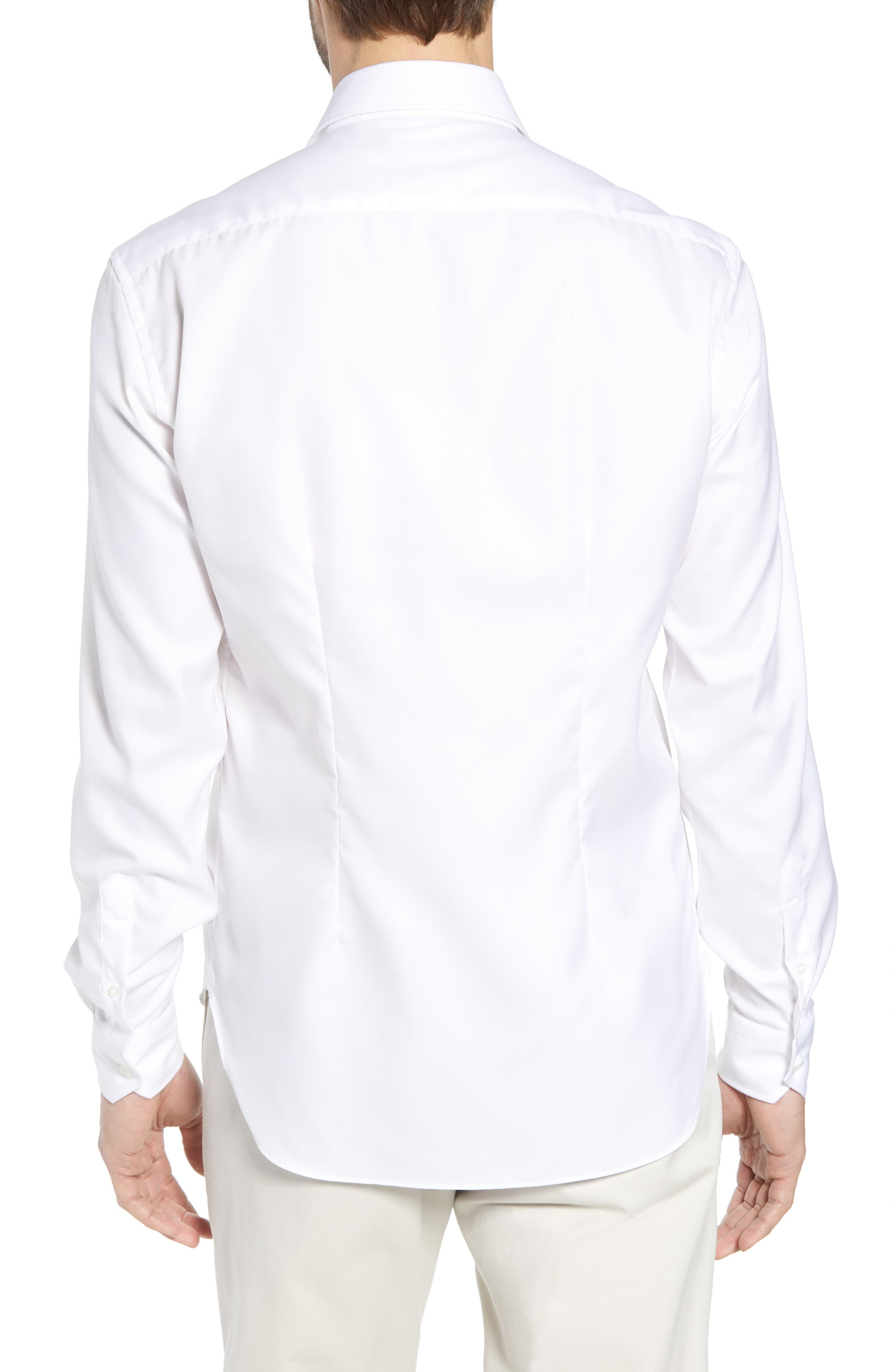 Crease Free Extra Soft Sport Shirt,                             Alternate thumbnail 3, color,                             White