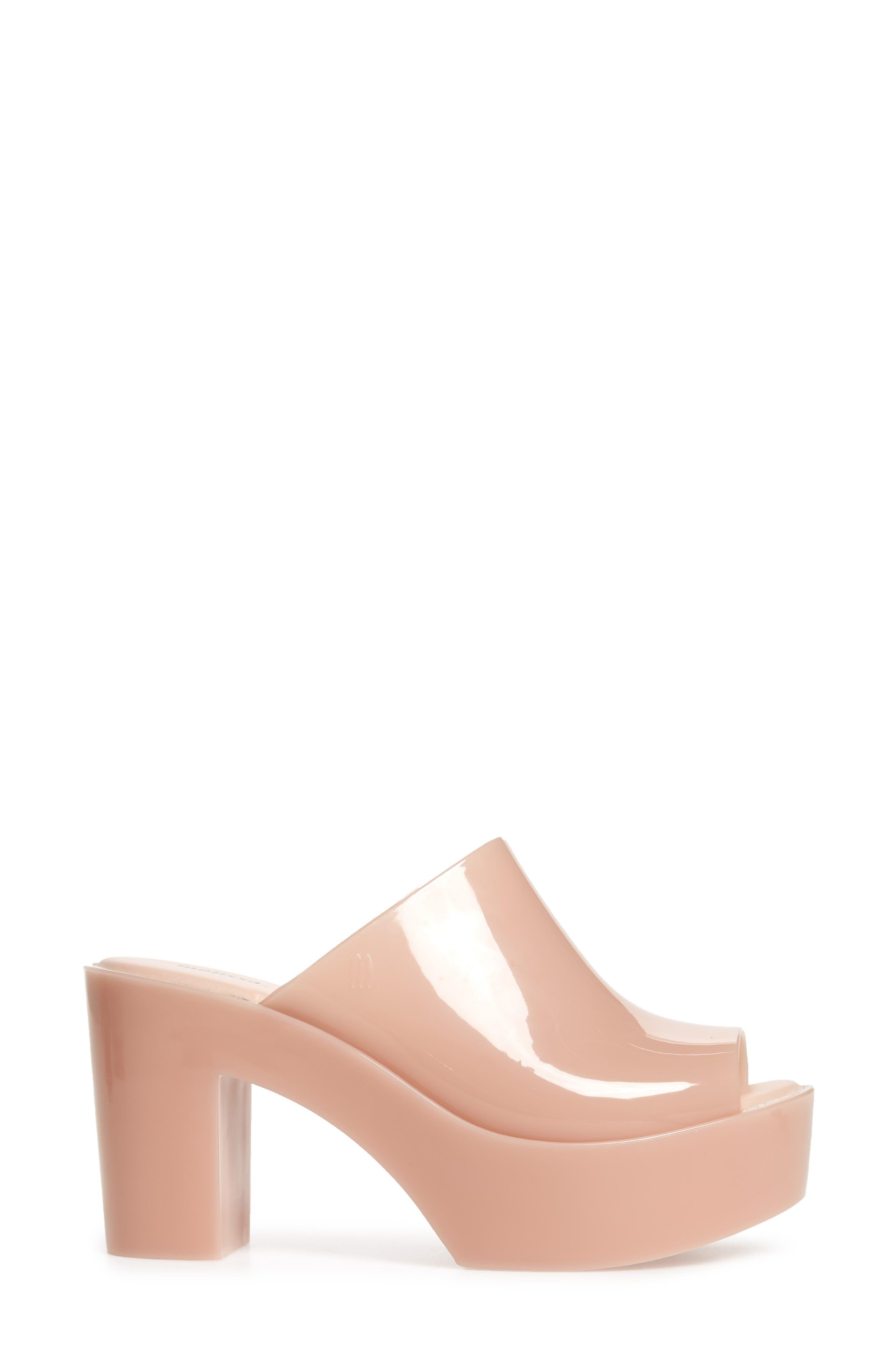 Open Toe Platform Mule,                             Alternate thumbnail 3, color,                             Light Pink