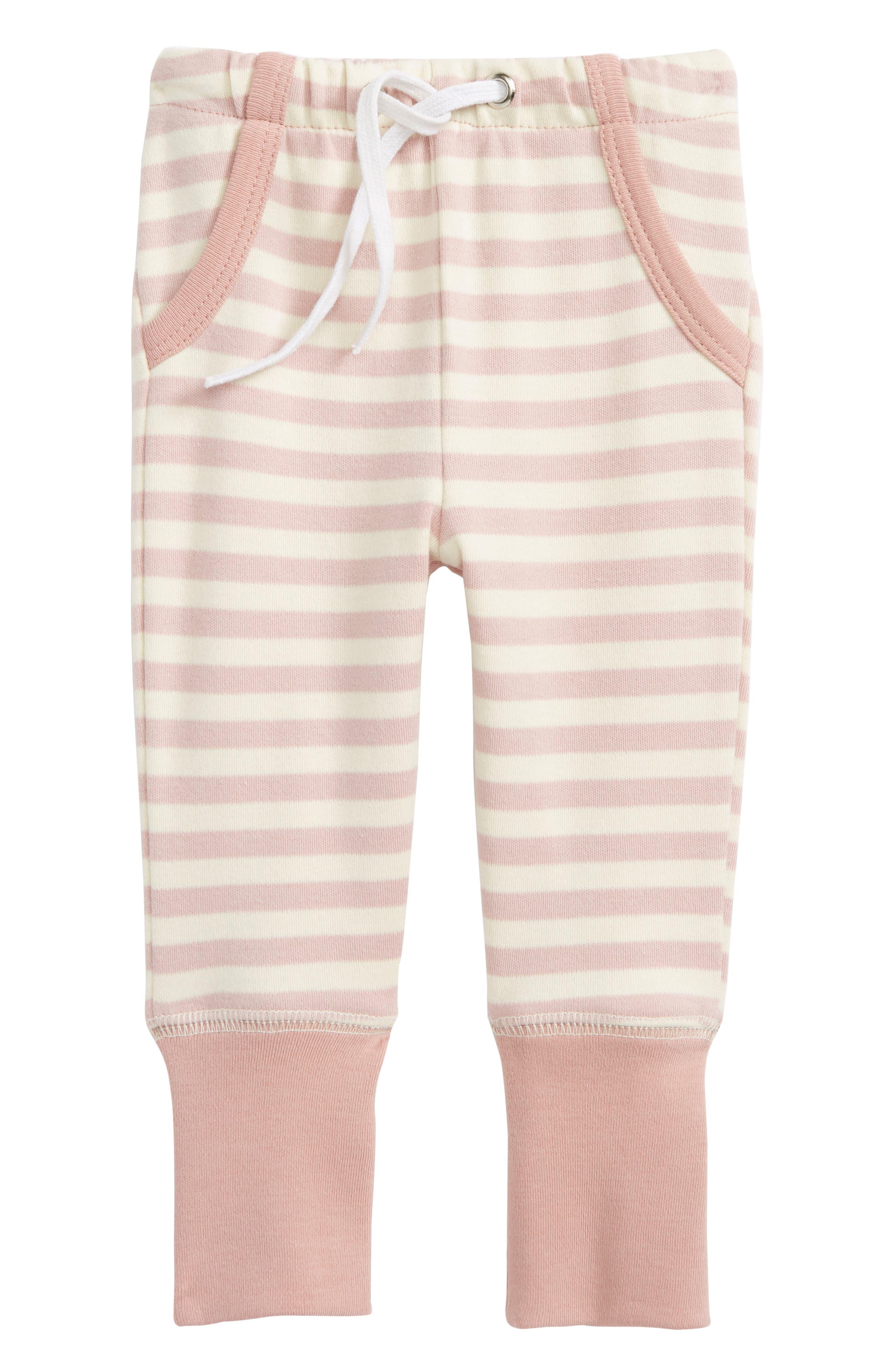 Organic Cotton Jogger Pants,                         Main,                         color, Mauve/ Beige