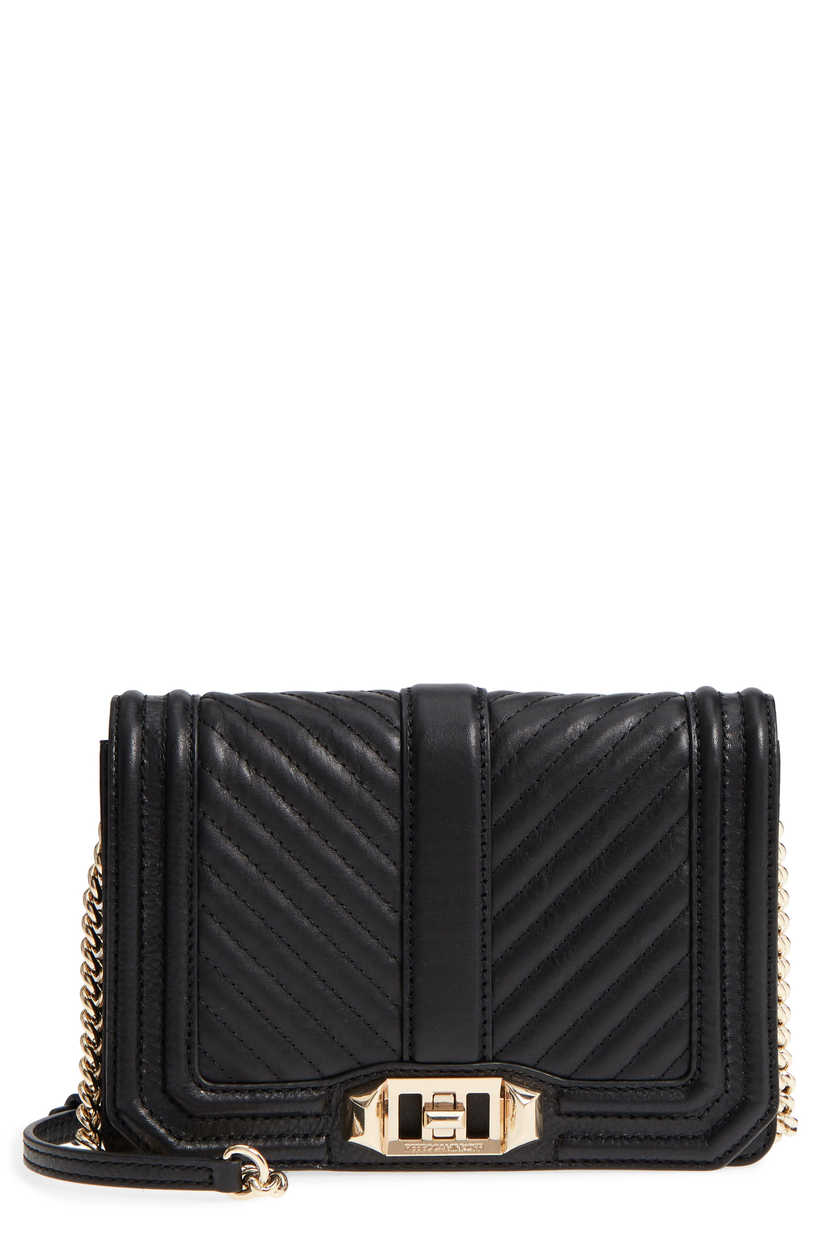 Main Image - Rebecca Minkoff Small Love Leather Crossbody Bag