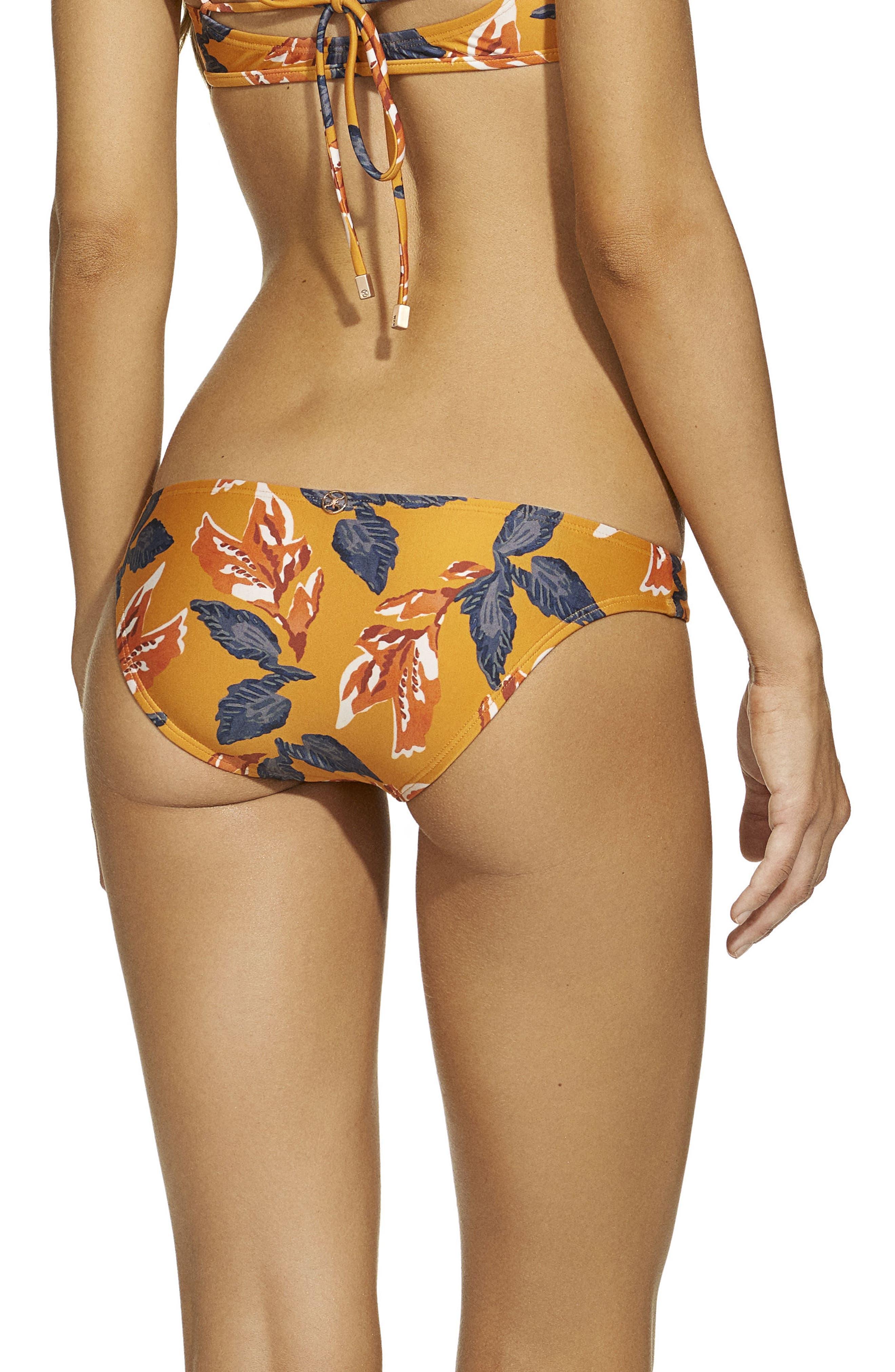 Tulum Print Bikini Bottoms,                             Alternate thumbnail 2, color,                             Orange Multi