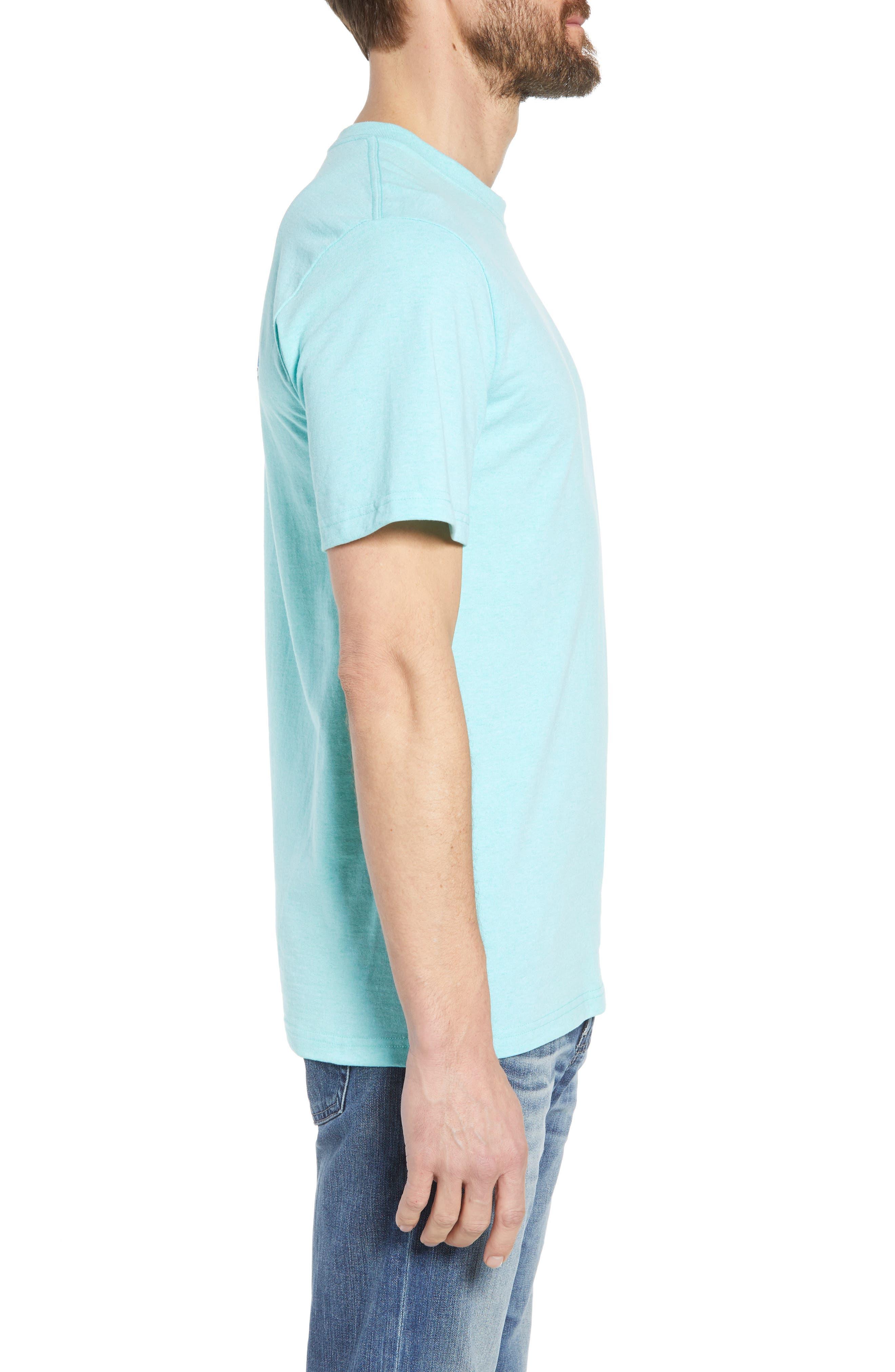 Fitz Roy Trout Crewneck T-Shirt,                             Alternate thumbnail 3, color,                             Bend Blue