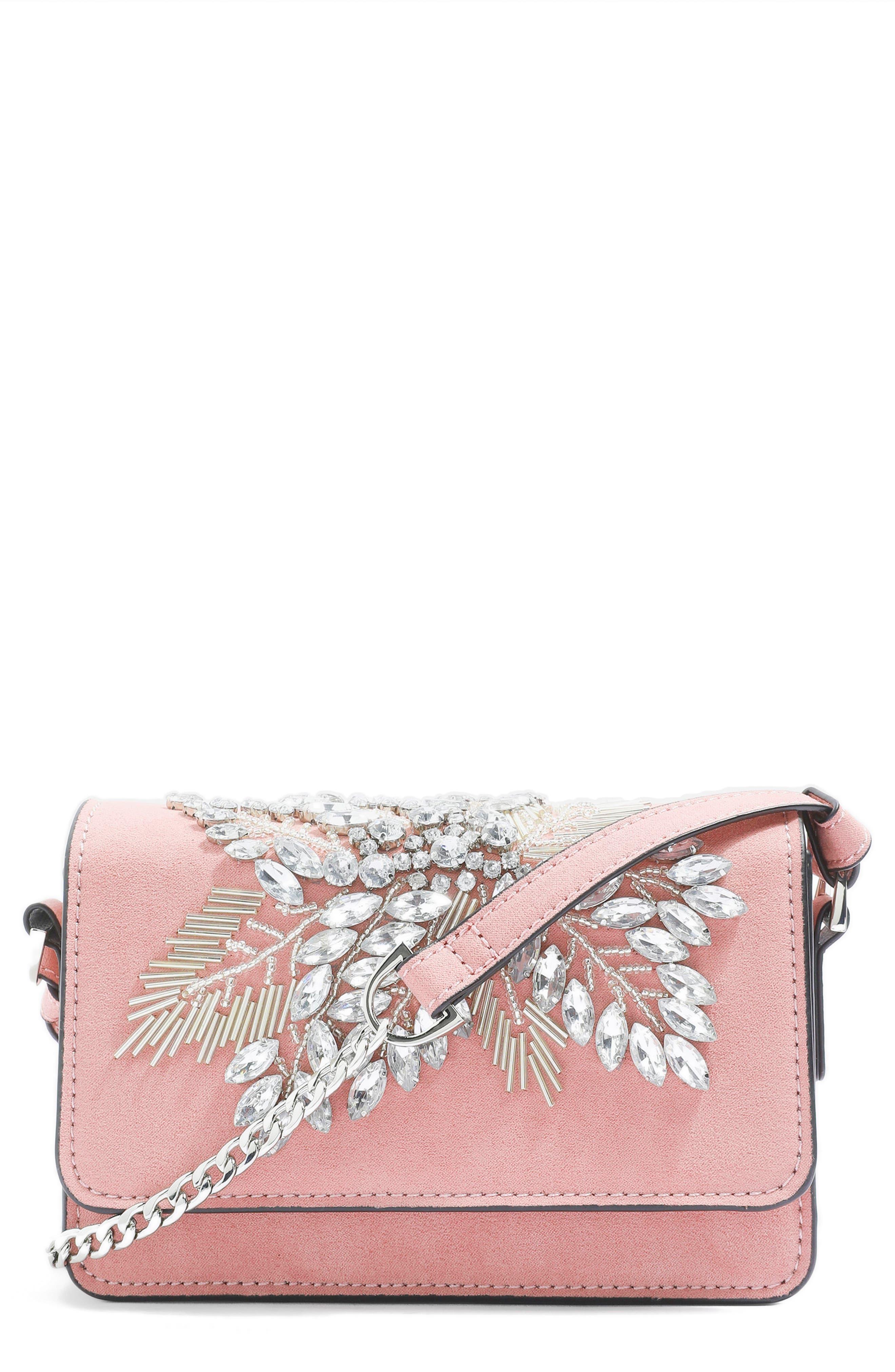 Ophira Sparkle Bead Crossbody,                             Alternate thumbnail 5, color,                             Pink Multi