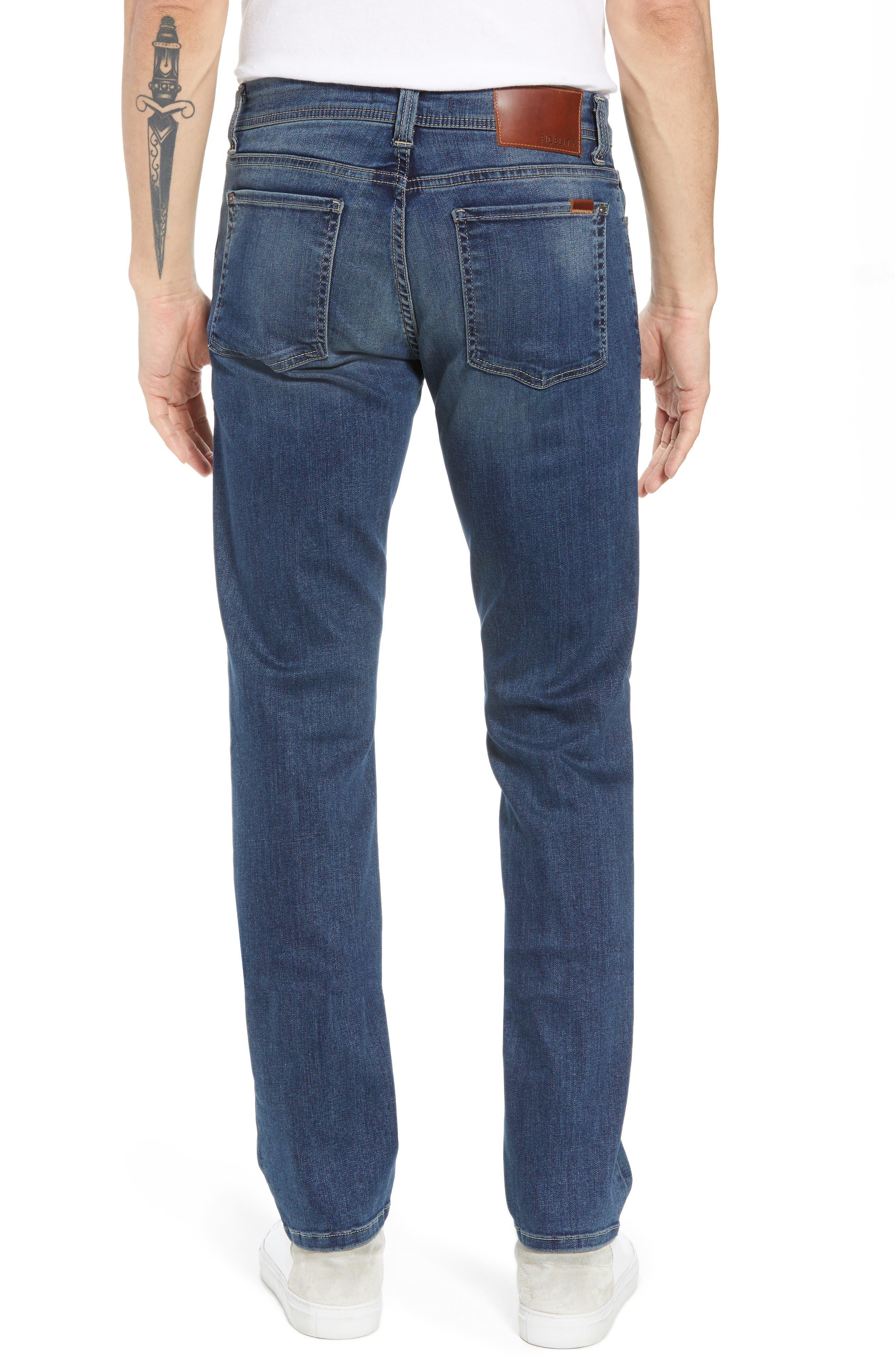 Jimmy Slim Straight Leg Jeans,                             Alternate thumbnail 2, color,                             Satori Blue