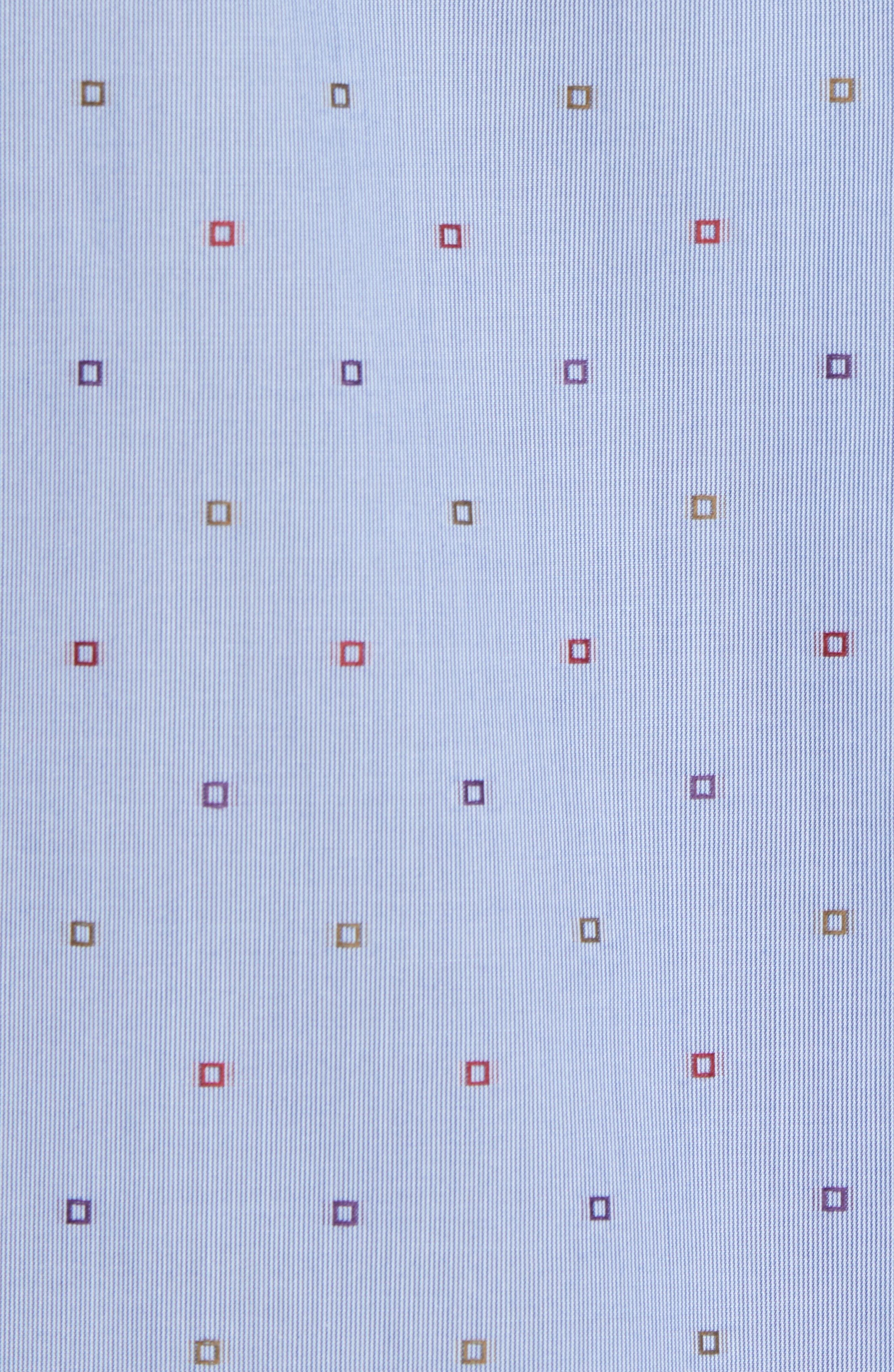 Platt Classic Fit Sport Shirt,                             Alternate thumbnail 5, color,                             Blue