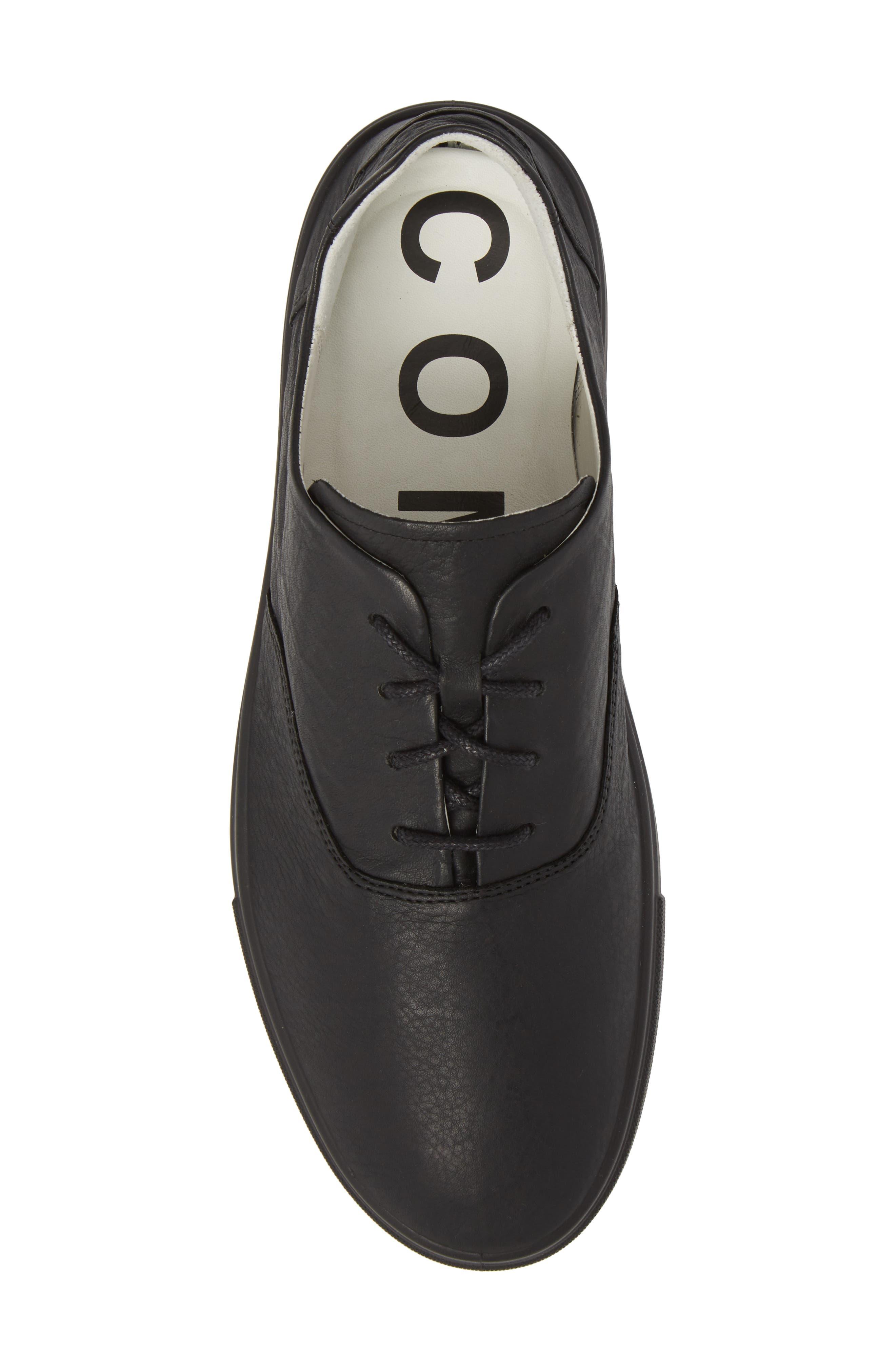 Kyle Low Top Sneaker,                             Alternate thumbnail 5, color,                             Rinsed Black Leather