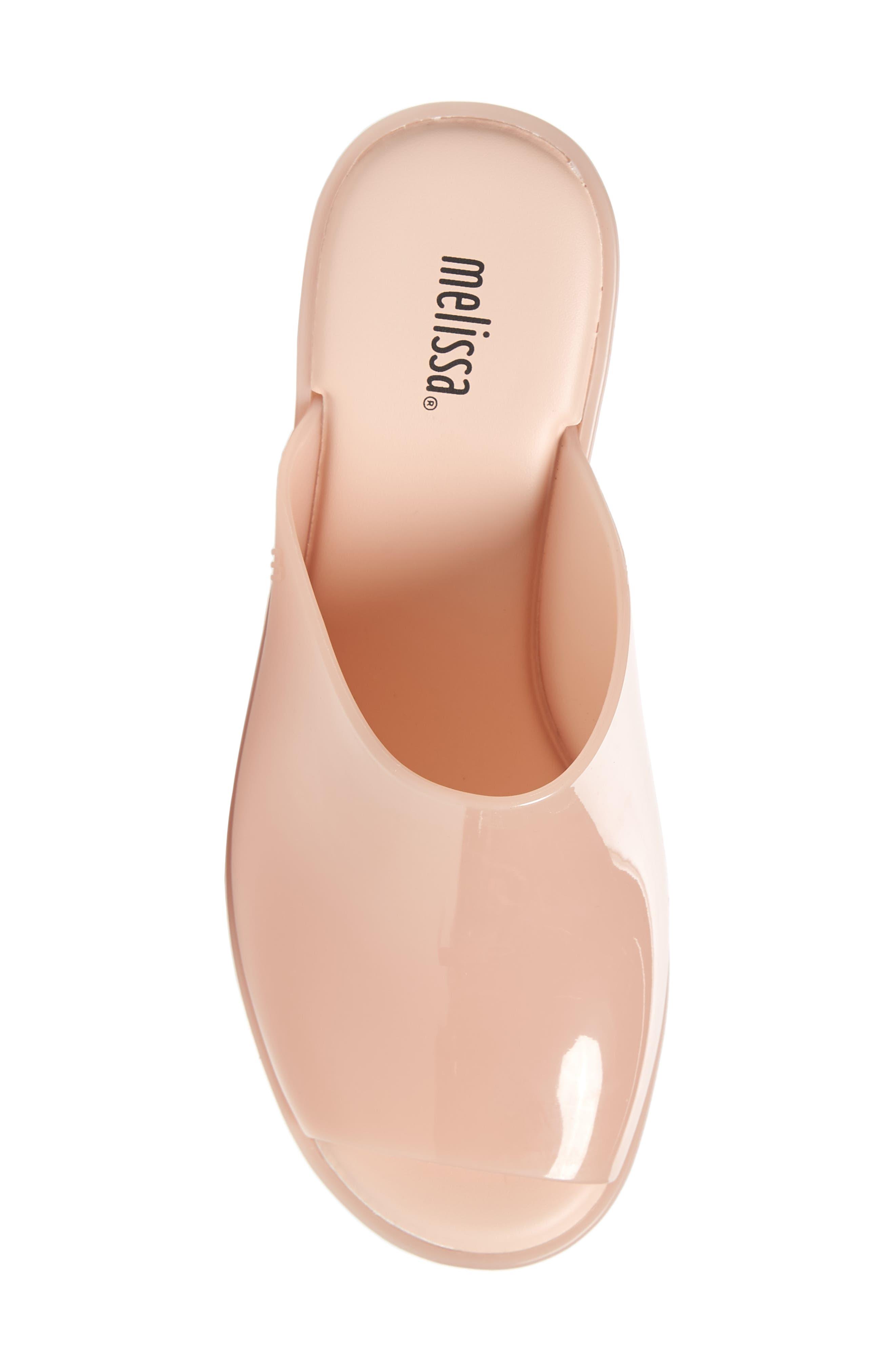 Open Toe Platform Mule,                             Alternate thumbnail 5, color,                             Light Pink