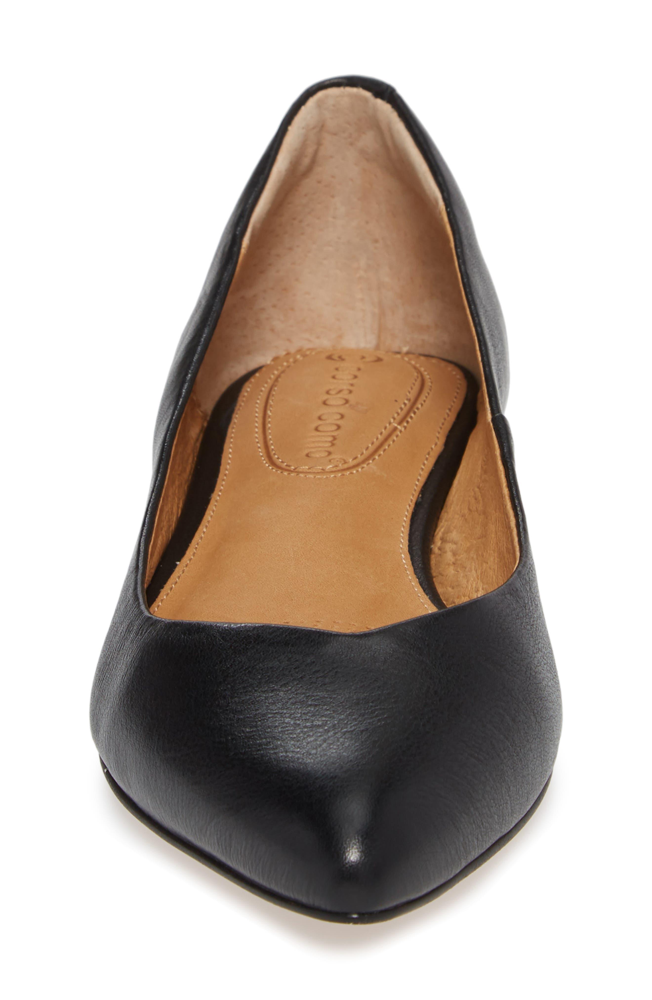 Jullia Flat,                             Alternate thumbnail 4, color,                             Black Leather
