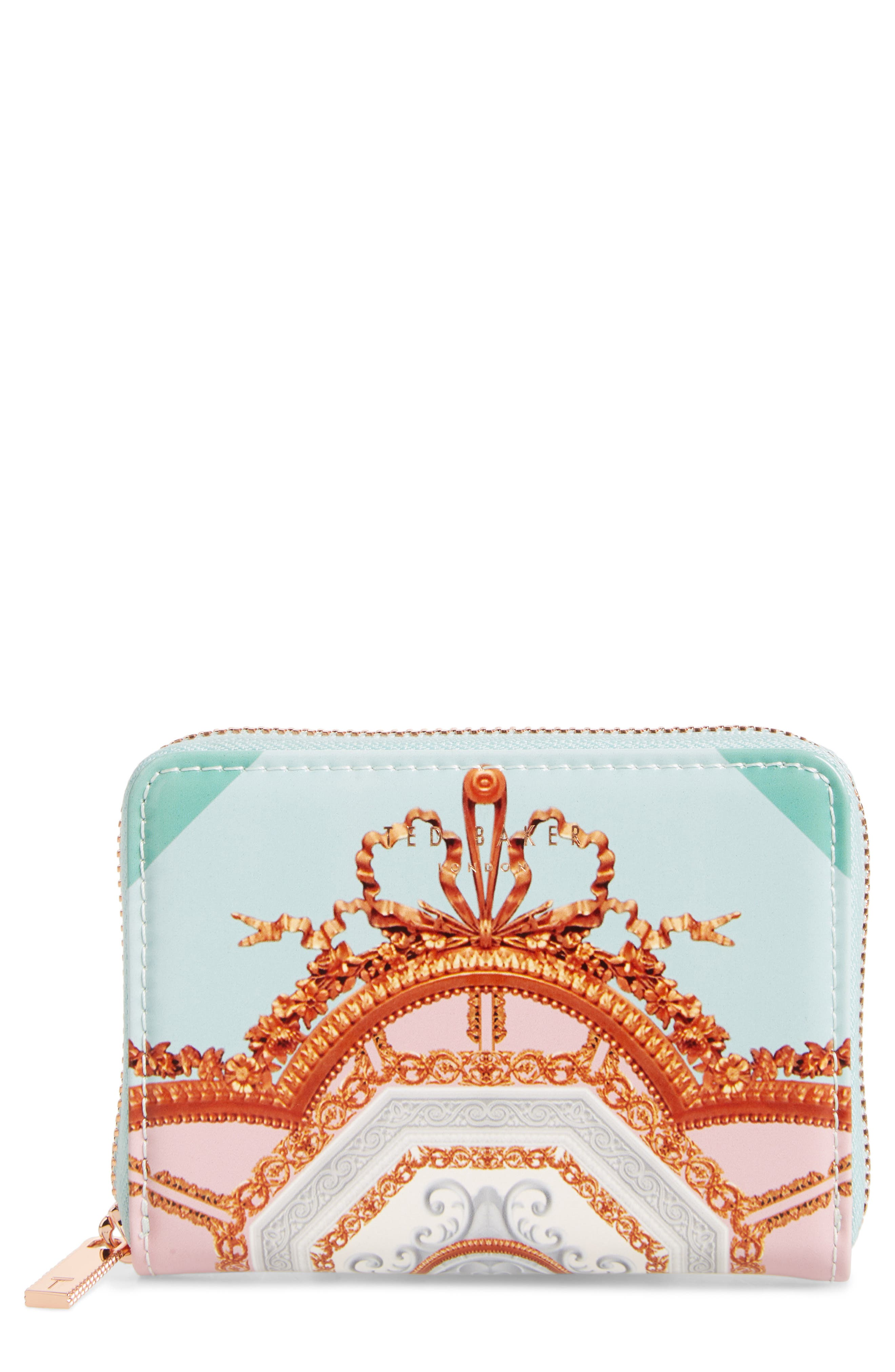 Ted Baker London Charlen Versaillles Leather Zip Coin Purse