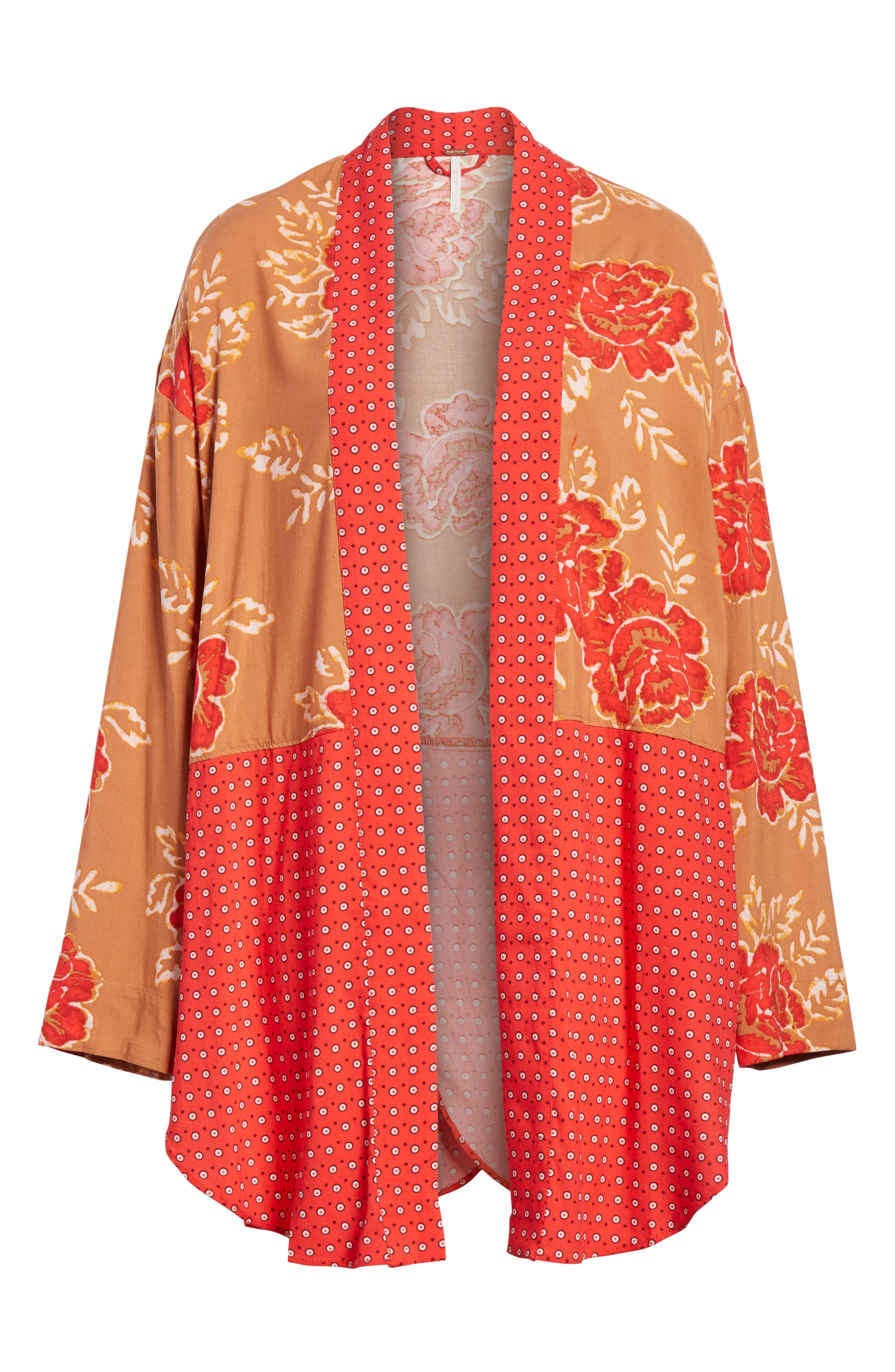 Forget Me Knot Tie Front Kimono,                             Main thumbnail 1, color,                             Light Red