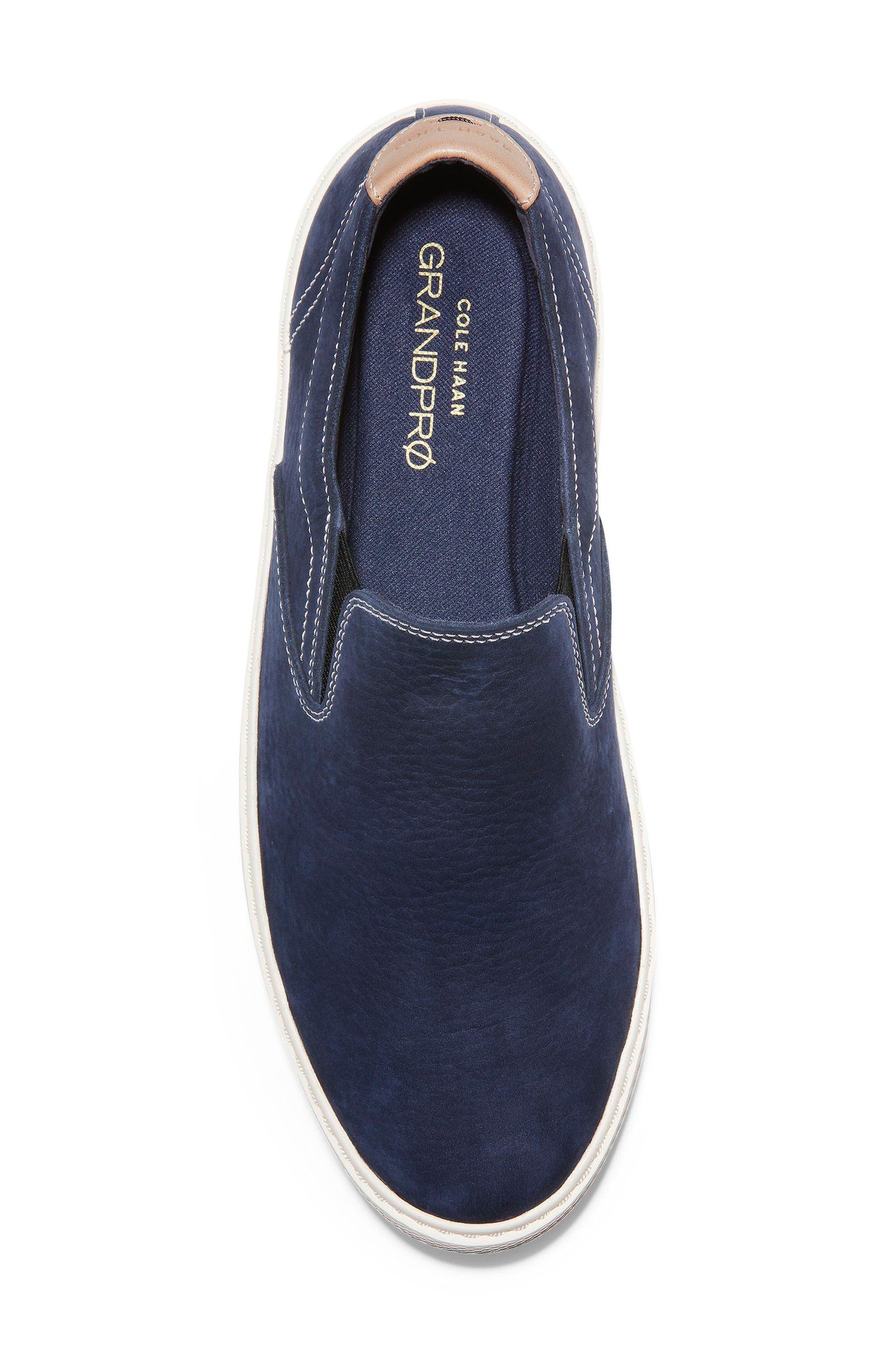 GrandPrø Deck Slip-On Sneaker,                             Alternate thumbnail 5, color,                             Marine Blue Nubuck
