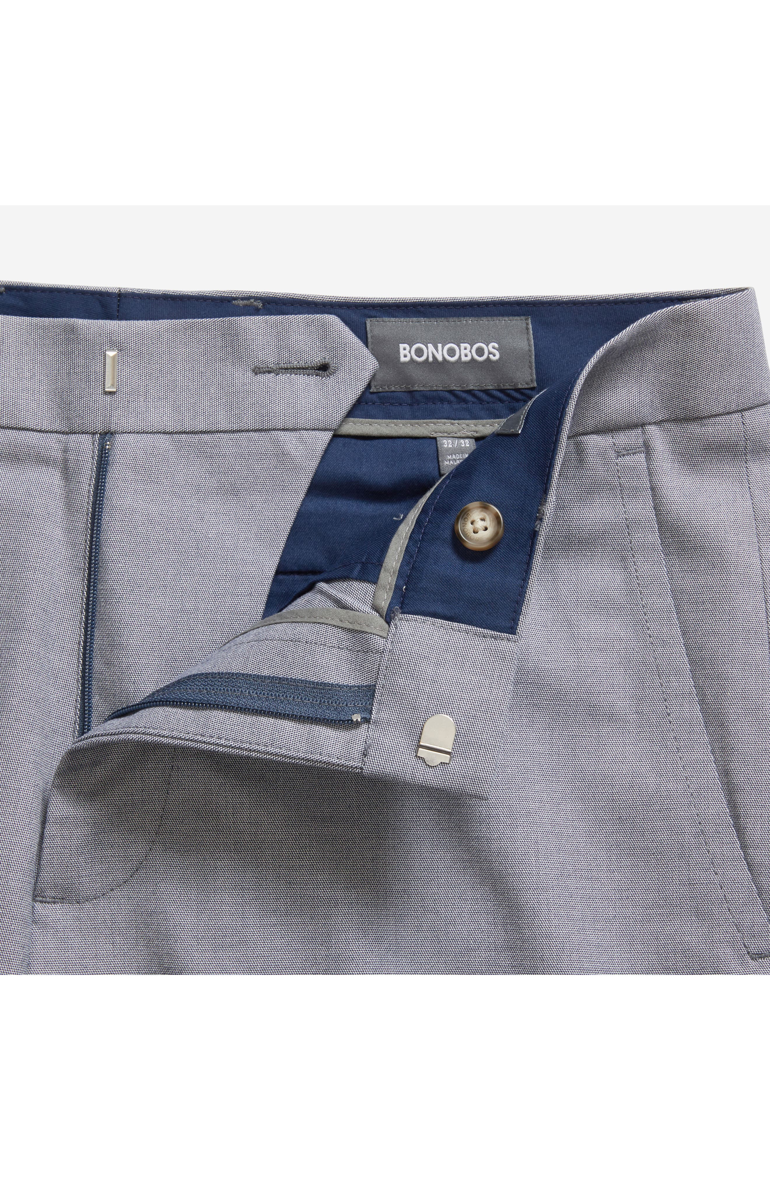 Weekday Warrior Flat Front Stretch Cotton Pants,                             Alternate thumbnail 4, color,                             Navy