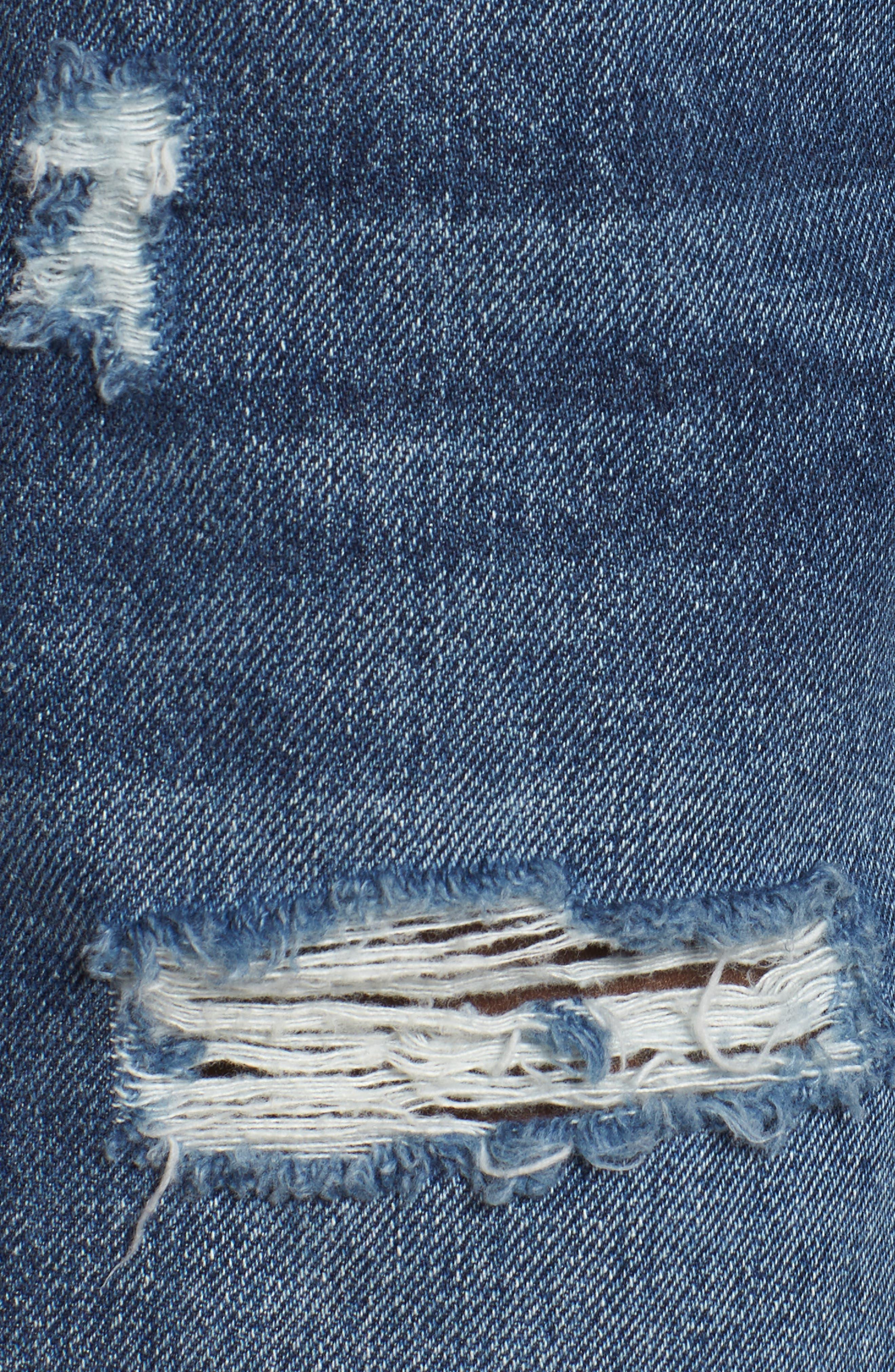 Alternate Image 5  - Hudson Jeans Sade Lace-Up Cutoff Denim Shorts (Topaz)