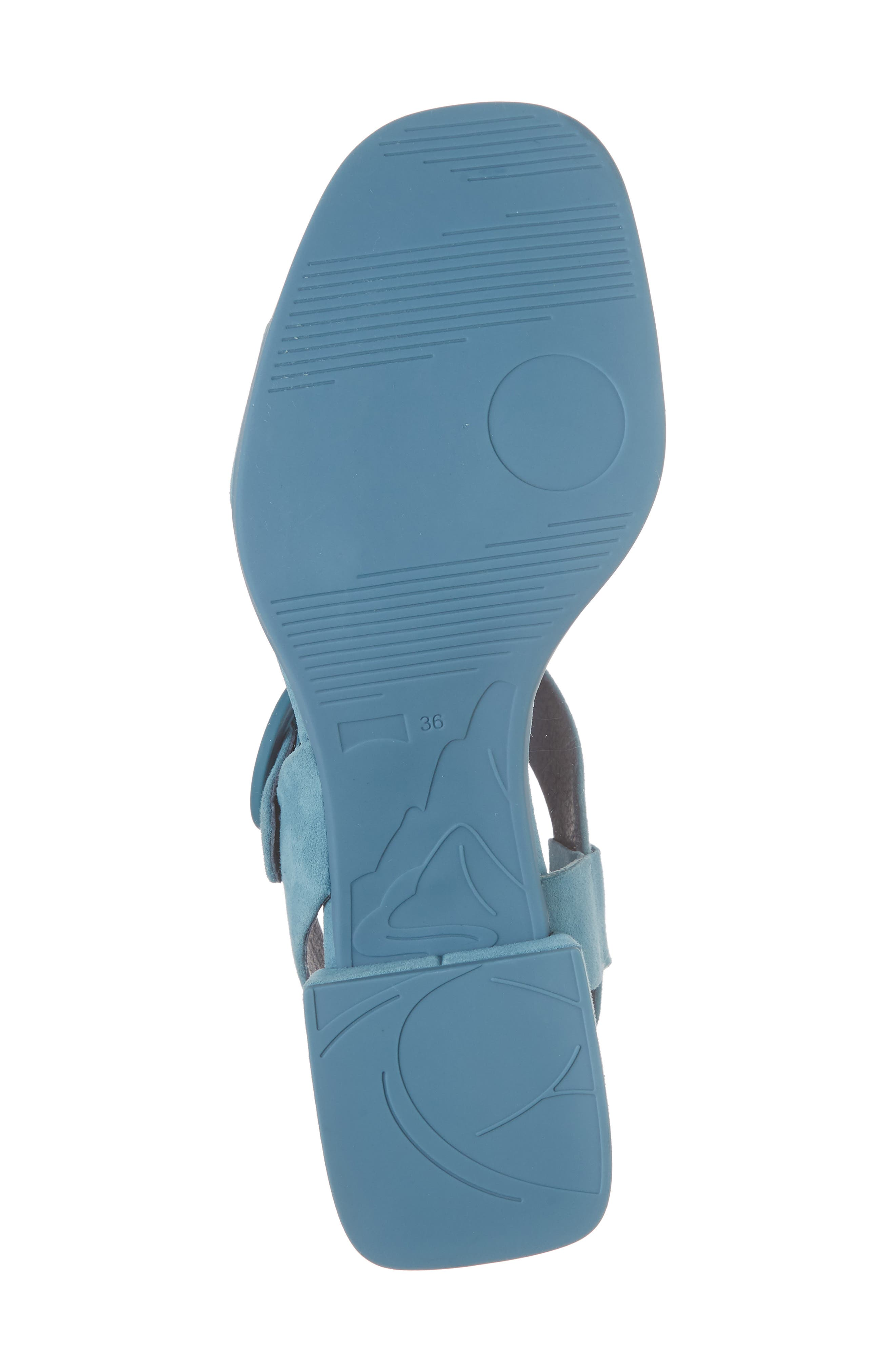 Kobo Sandal,                             Alternate thumbnail 6, color,                             Medium Blue Suede
