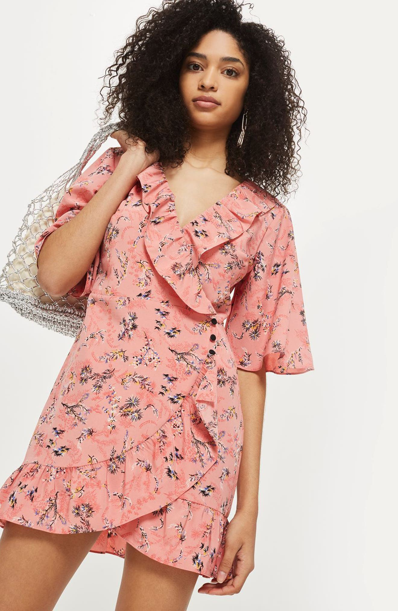 Off Duty Ruffle Tea Dress,                             Alternate thumbnail 2, color,                             Pink