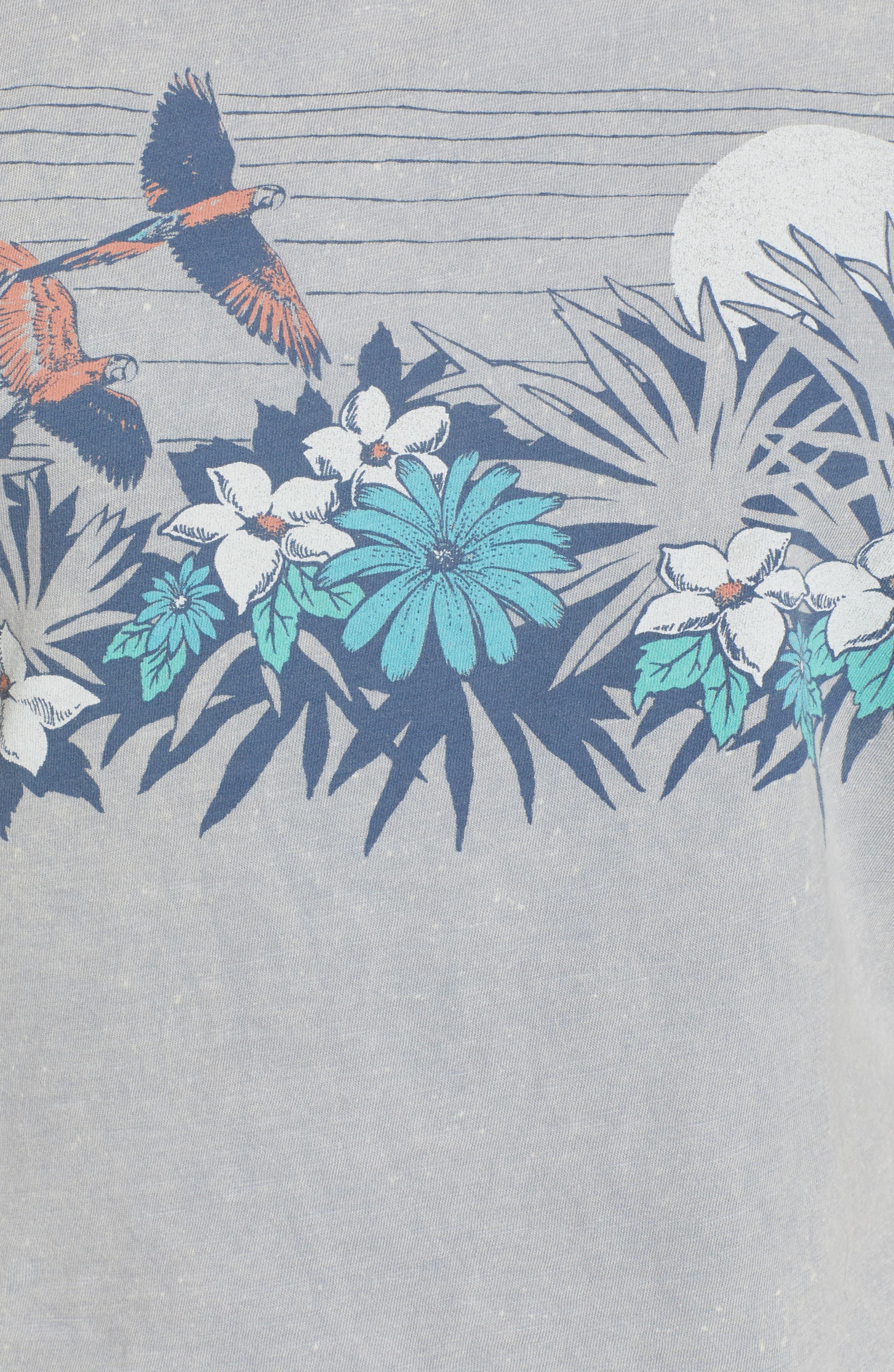 Paradise Floral Tank,                             Alternate thumbnail 6, color,                             Washed Blue