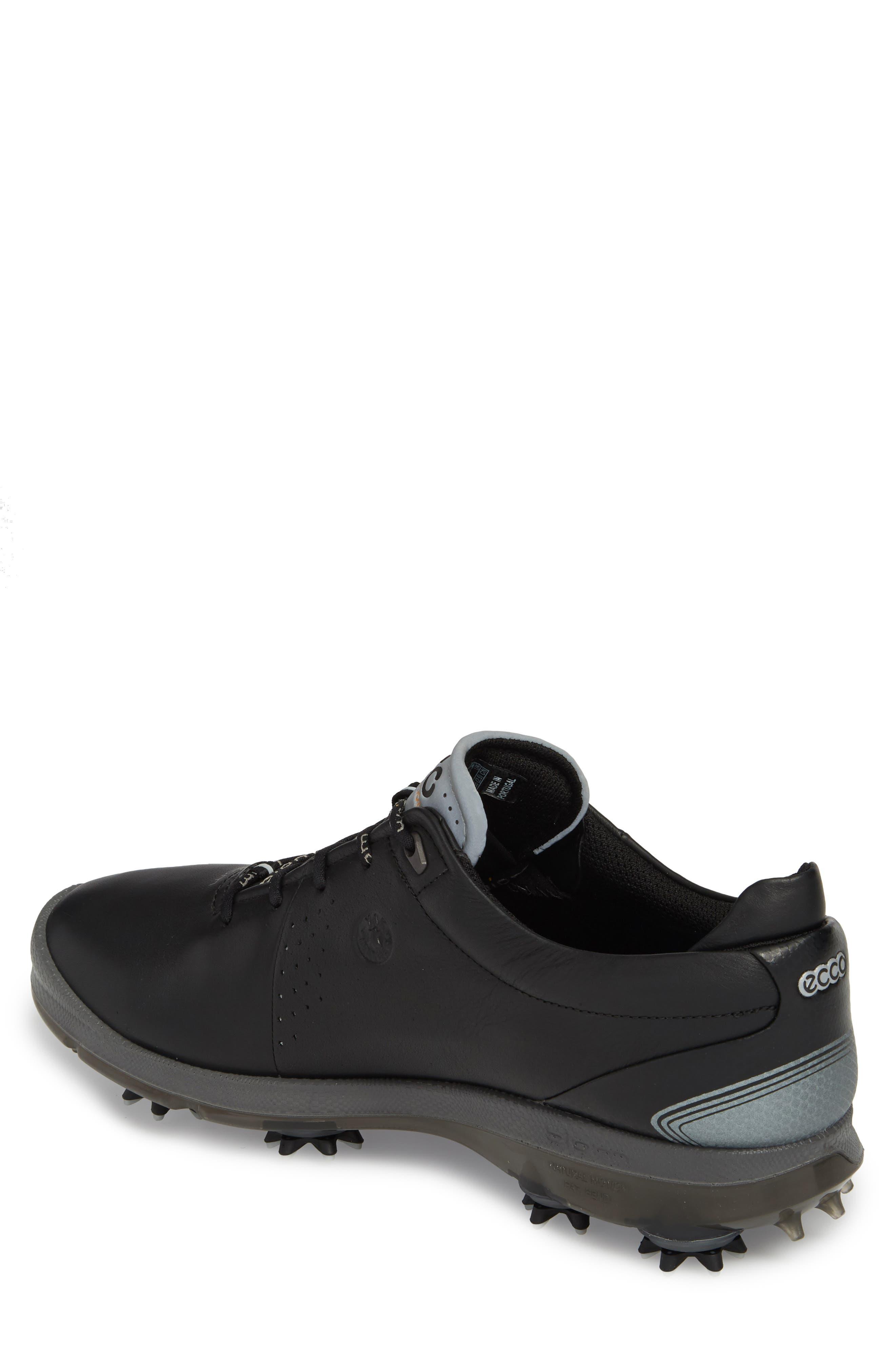 BIOM G 2 Free Gore-Tex<sup>®</sup> Golf Shoe,                             Alternate thumbnail 2, color,                             Black Leather