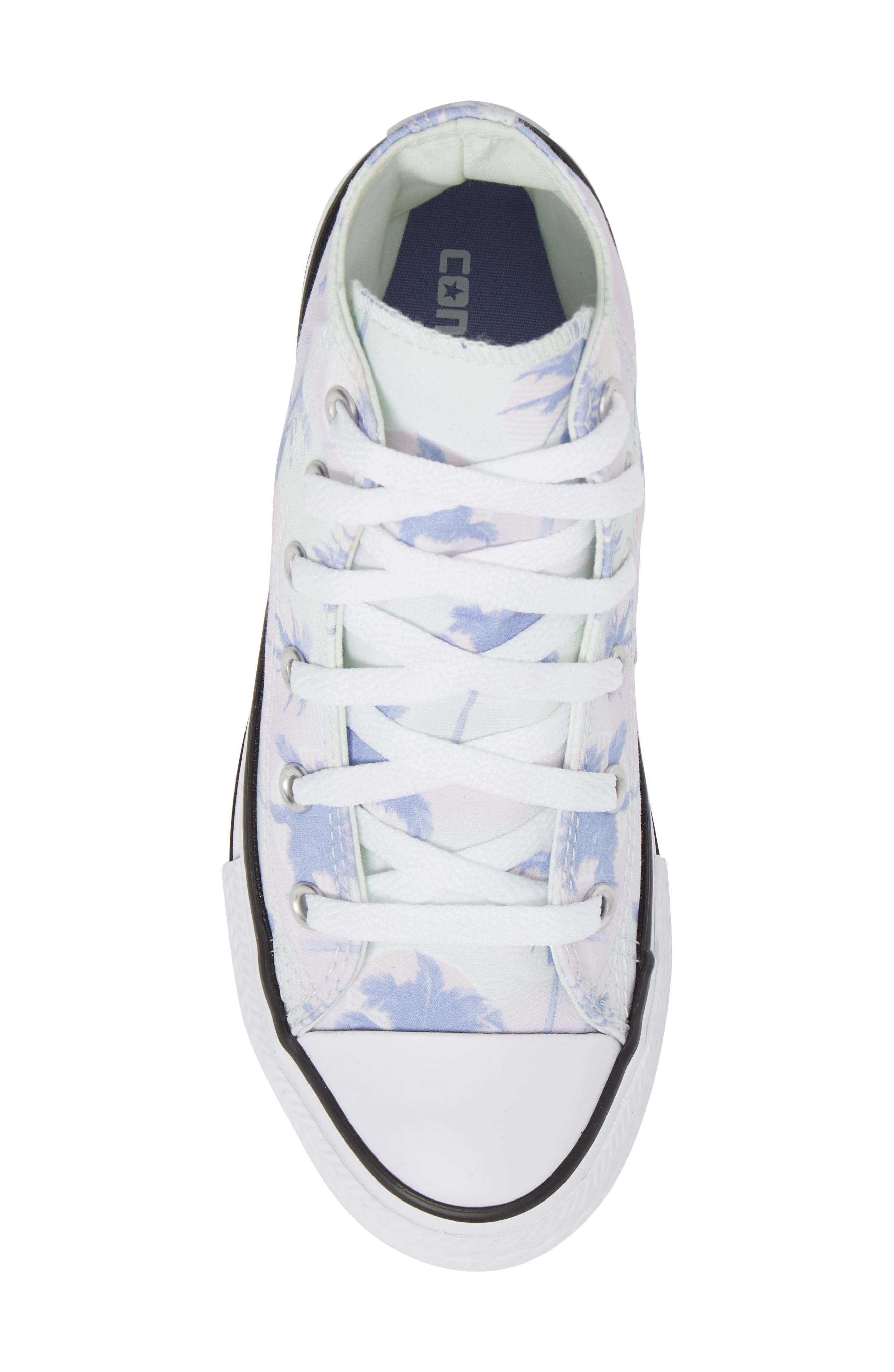 Chuck Taylor<sup>®</sup> All Star<sup>®</sup> Palm Tree High Top Sneaker,                             Alternate thumbnail 5, color,                             Purple