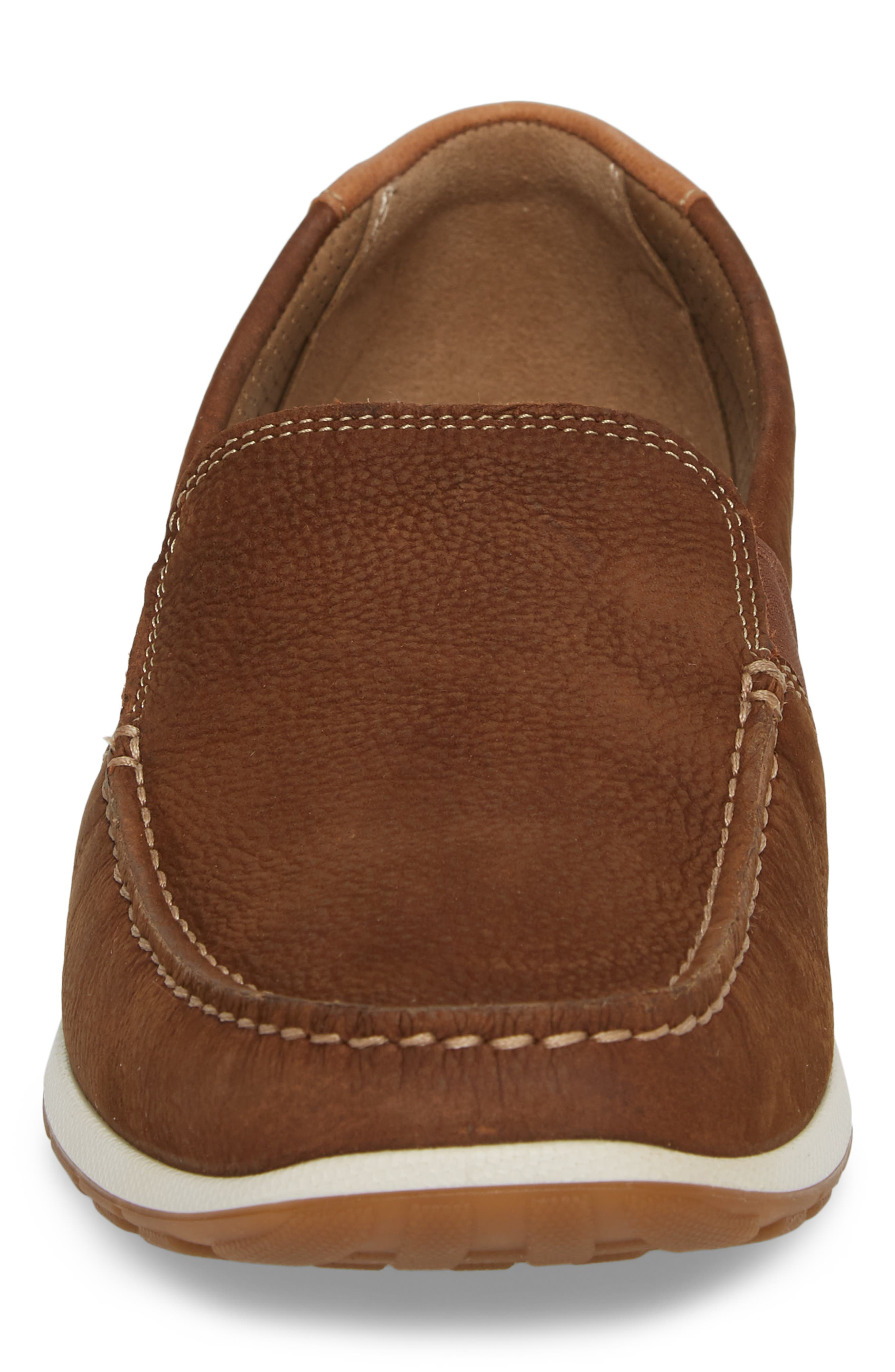DIP Lux Moc Toe Driver,                             Alternate thumbnail 4, color,                             Mahogany Leather