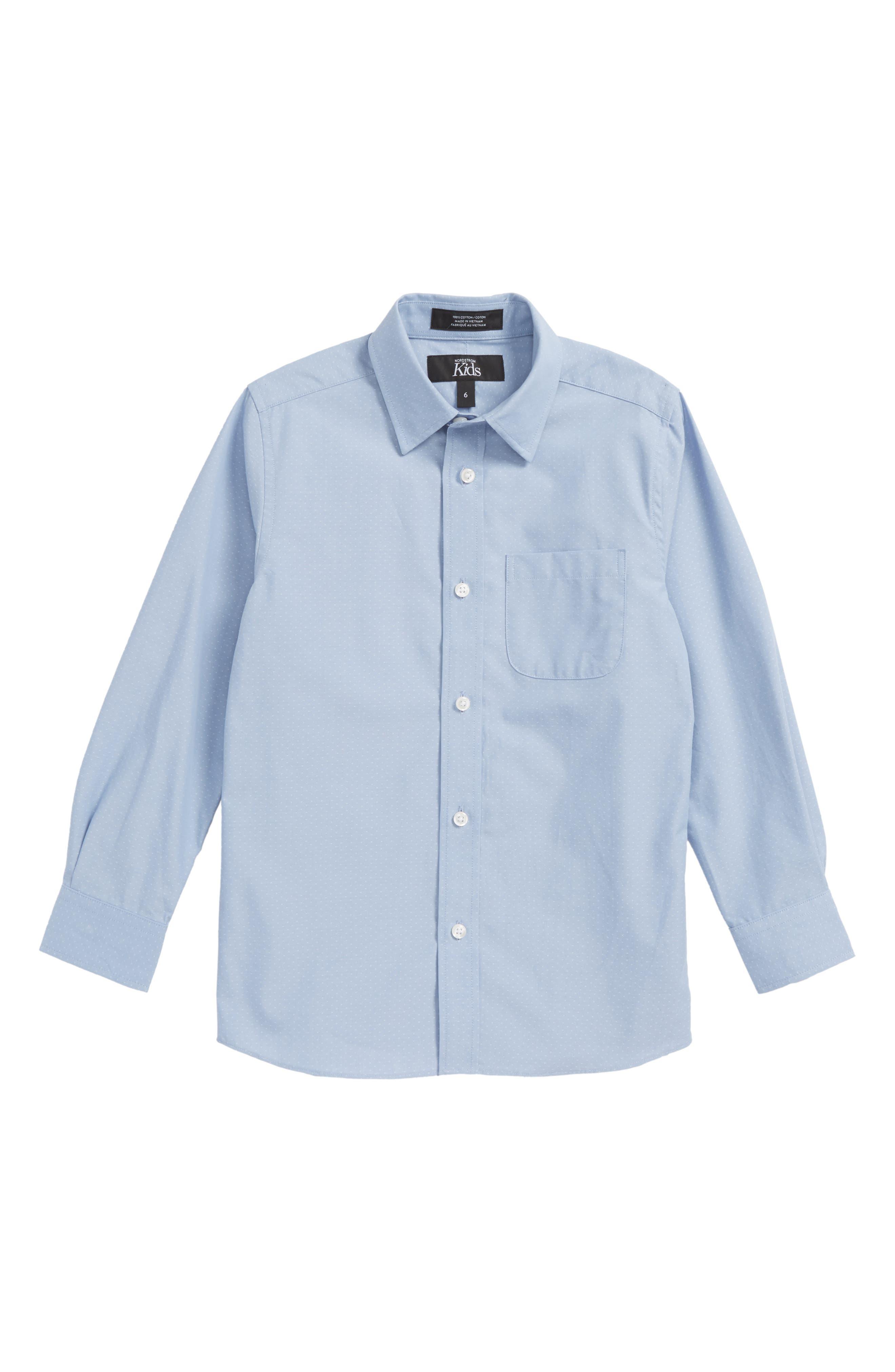 Poplin Dress Shirt,                             Main thumbnail 1, color,                             Blue Xenon Poplin