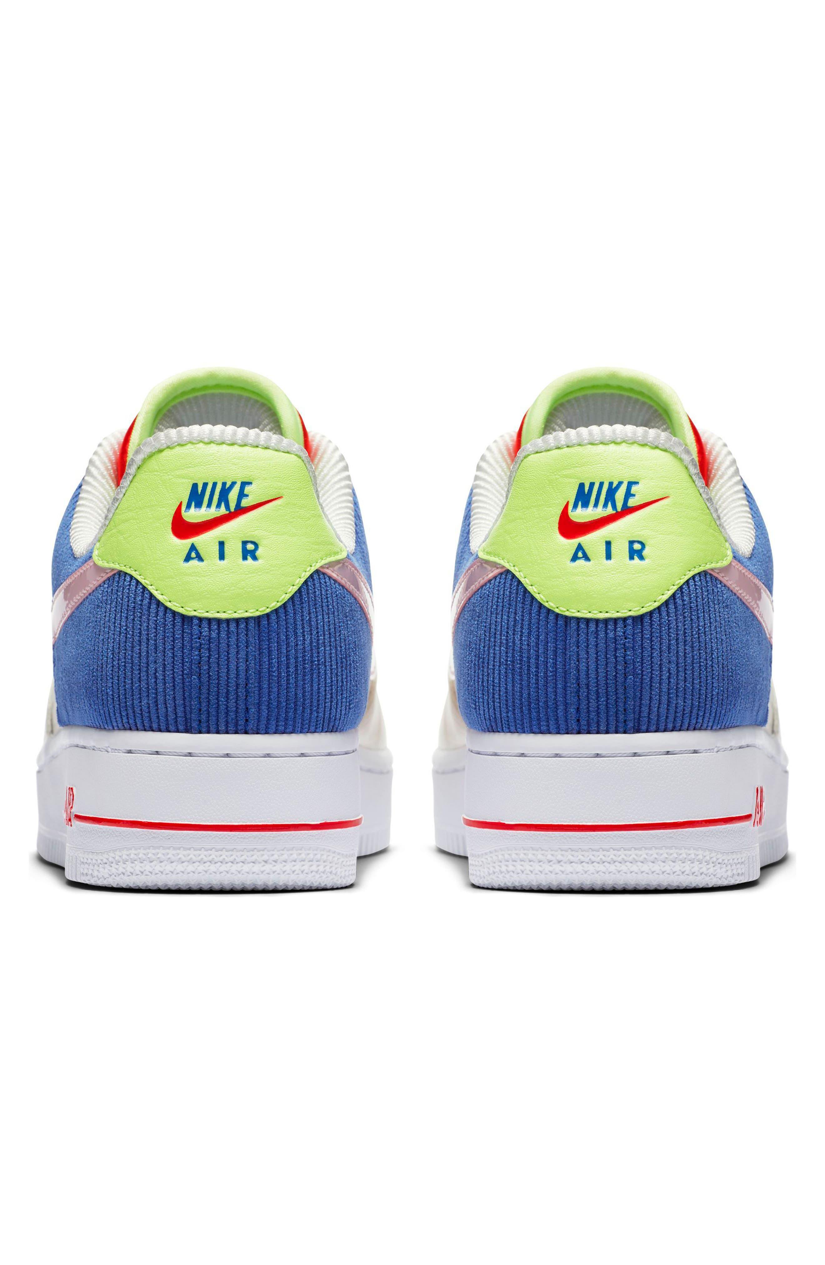 Air Force 1 Low Top Sneaker,                             Alternate thumbnail 2, color,                             Sail/ Arctic Pink-Racer Blue