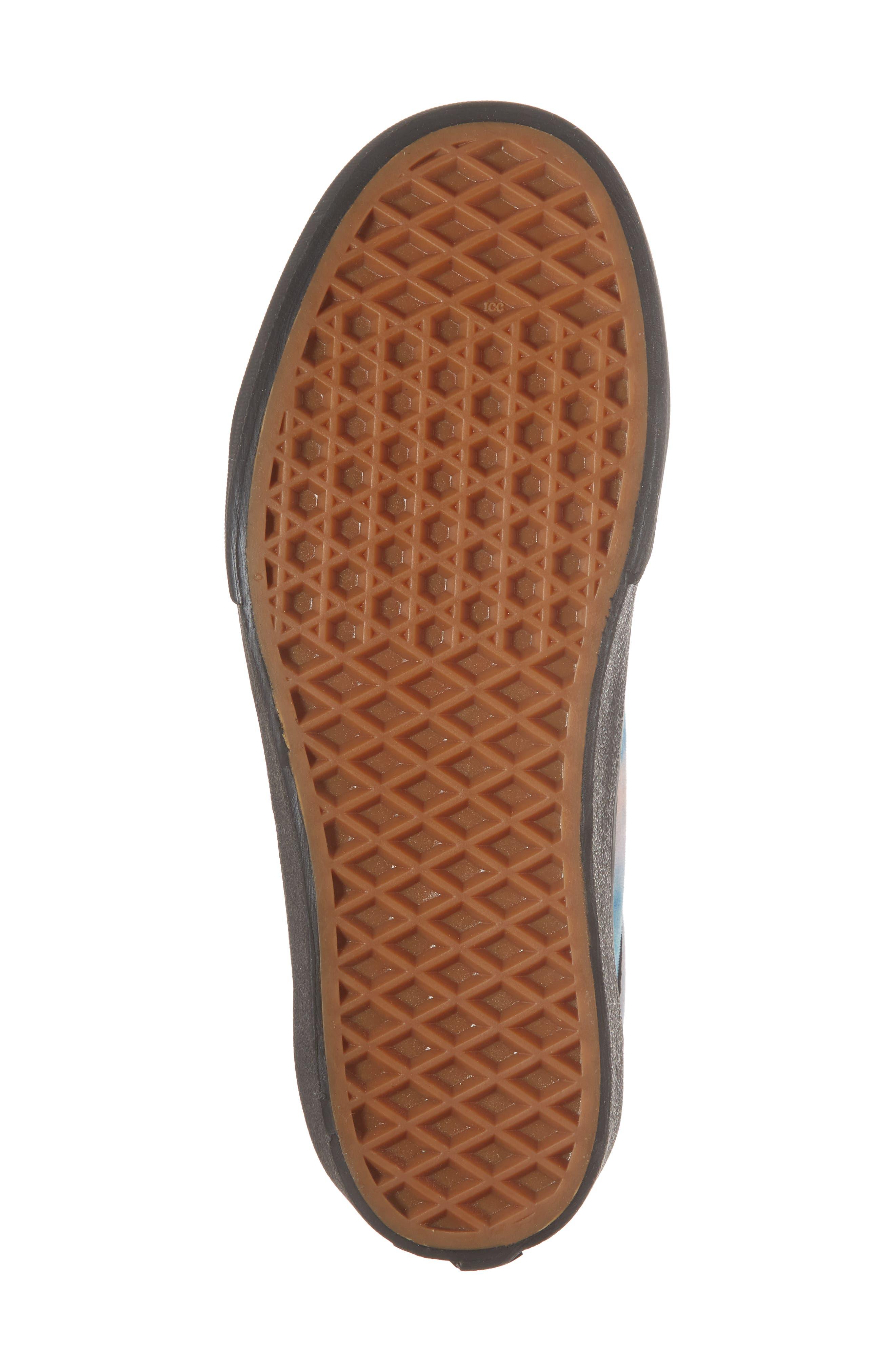 Old Skool Platform Sneaker,                             Alternate thumbnail 6, color,                             Velvet Tie-Dye Multi/ Black