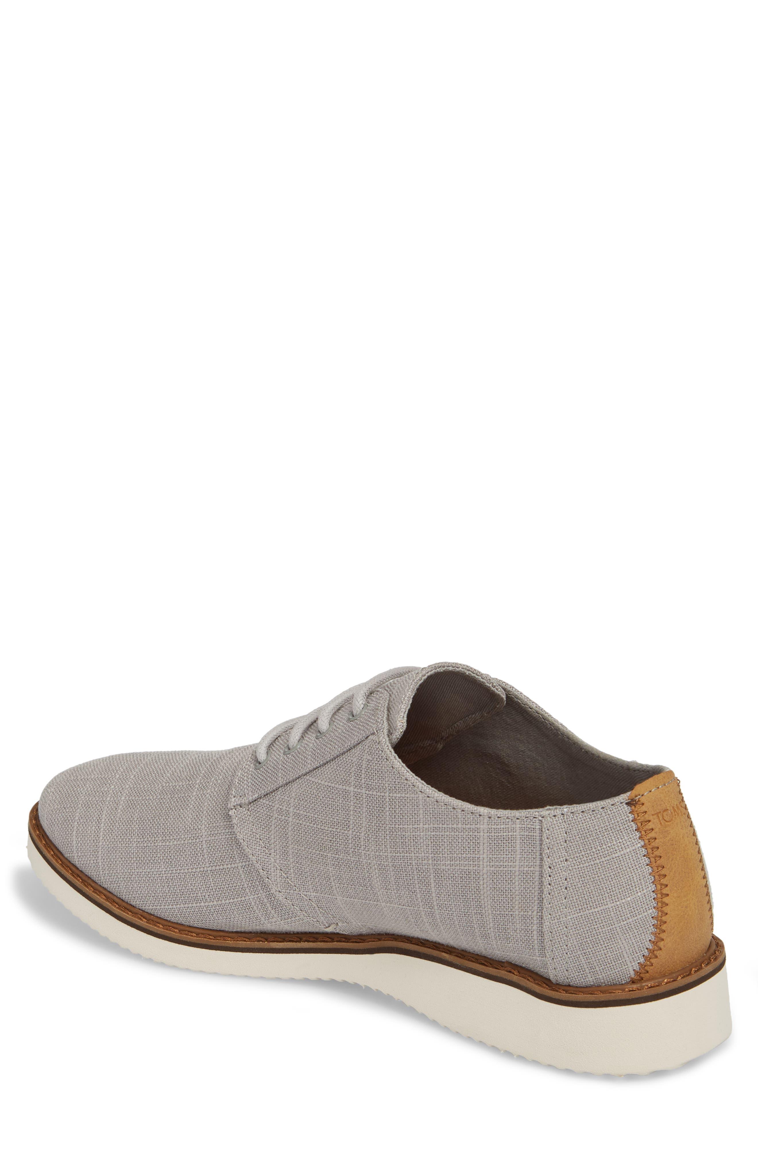 Preston Plain Toe Derby,                             Alternate thumbnail 2, color,                             Grey Linen