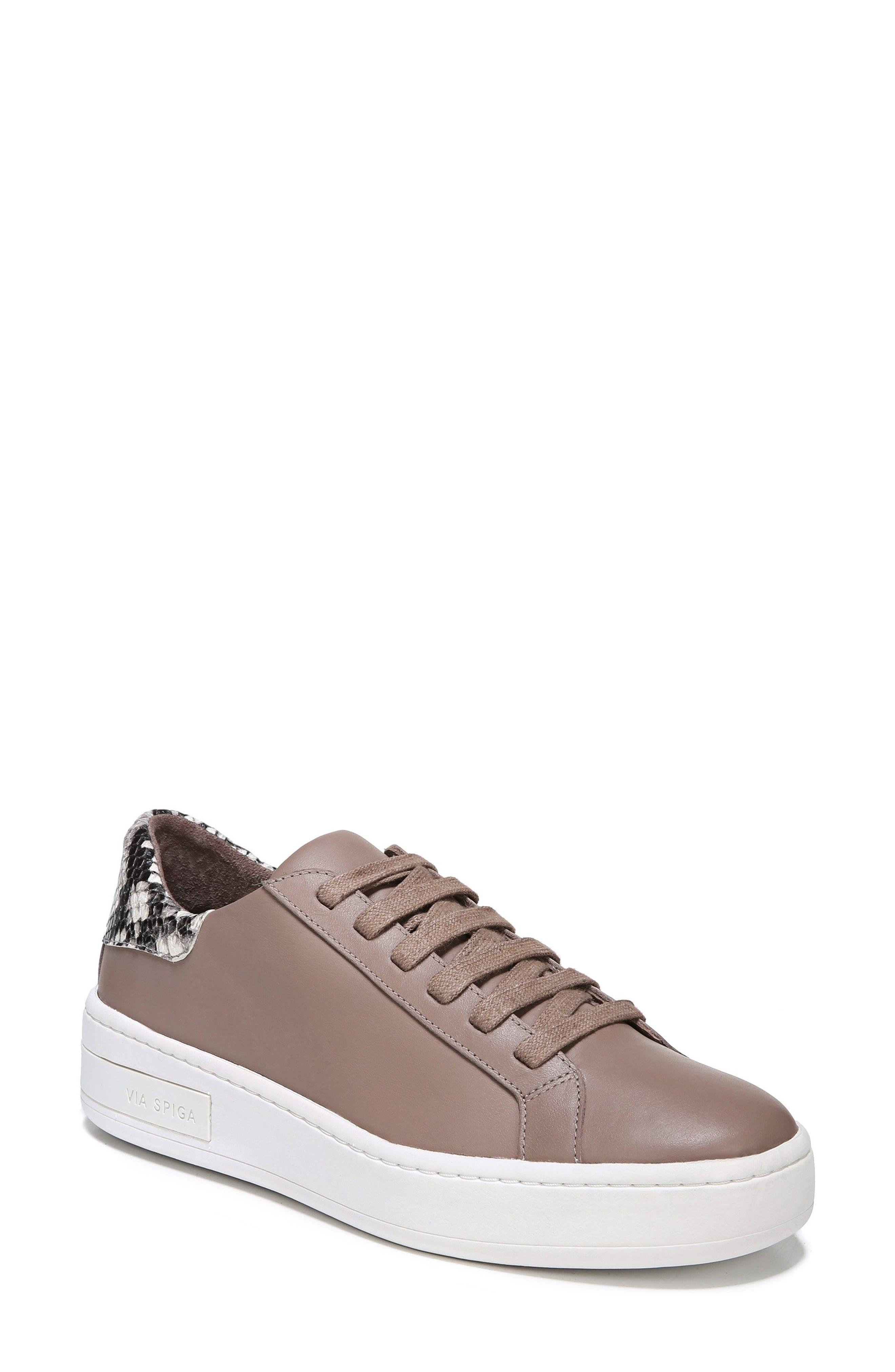 Rylen Platform Sneaker,                             Main thumbnail 1, color,                             Porcini/ Black/ White Leather