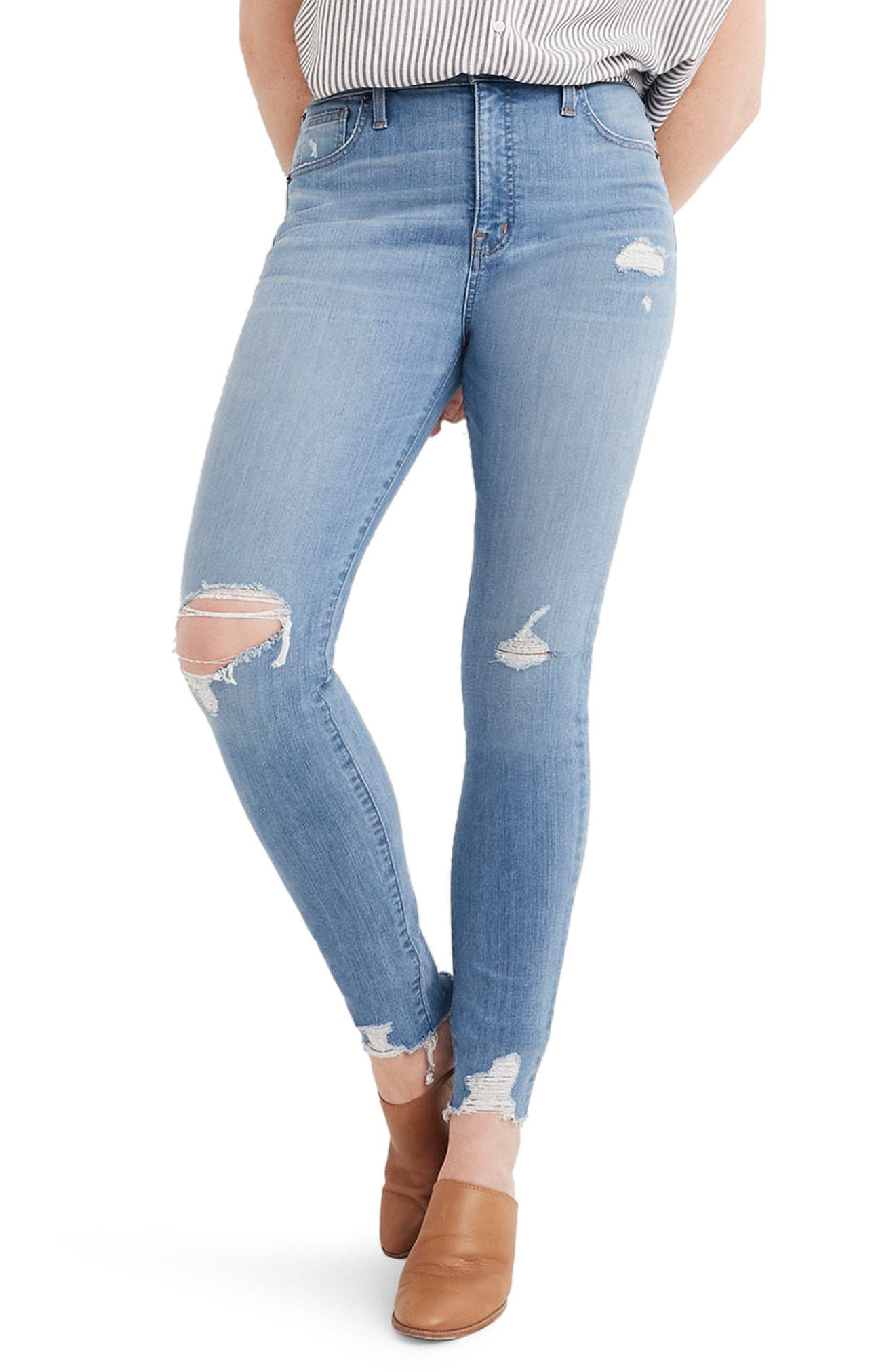 Madewell 9-Inch High Waist Skinny Jeans (Ontario Wash) (Short)