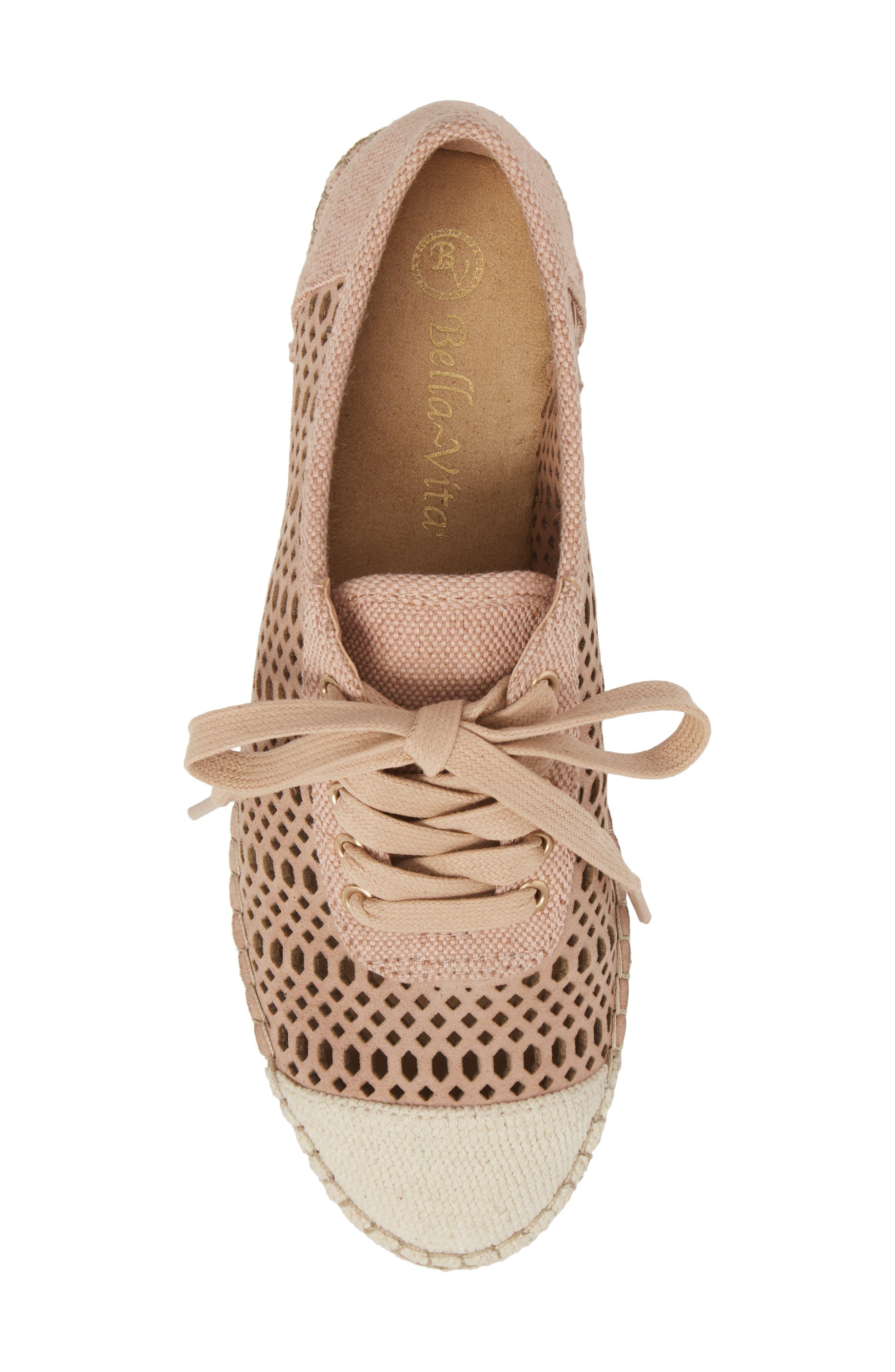 Clementine Espadrille Sneaker,                             Alternate thumbnail 5, color,                             Blush Suede