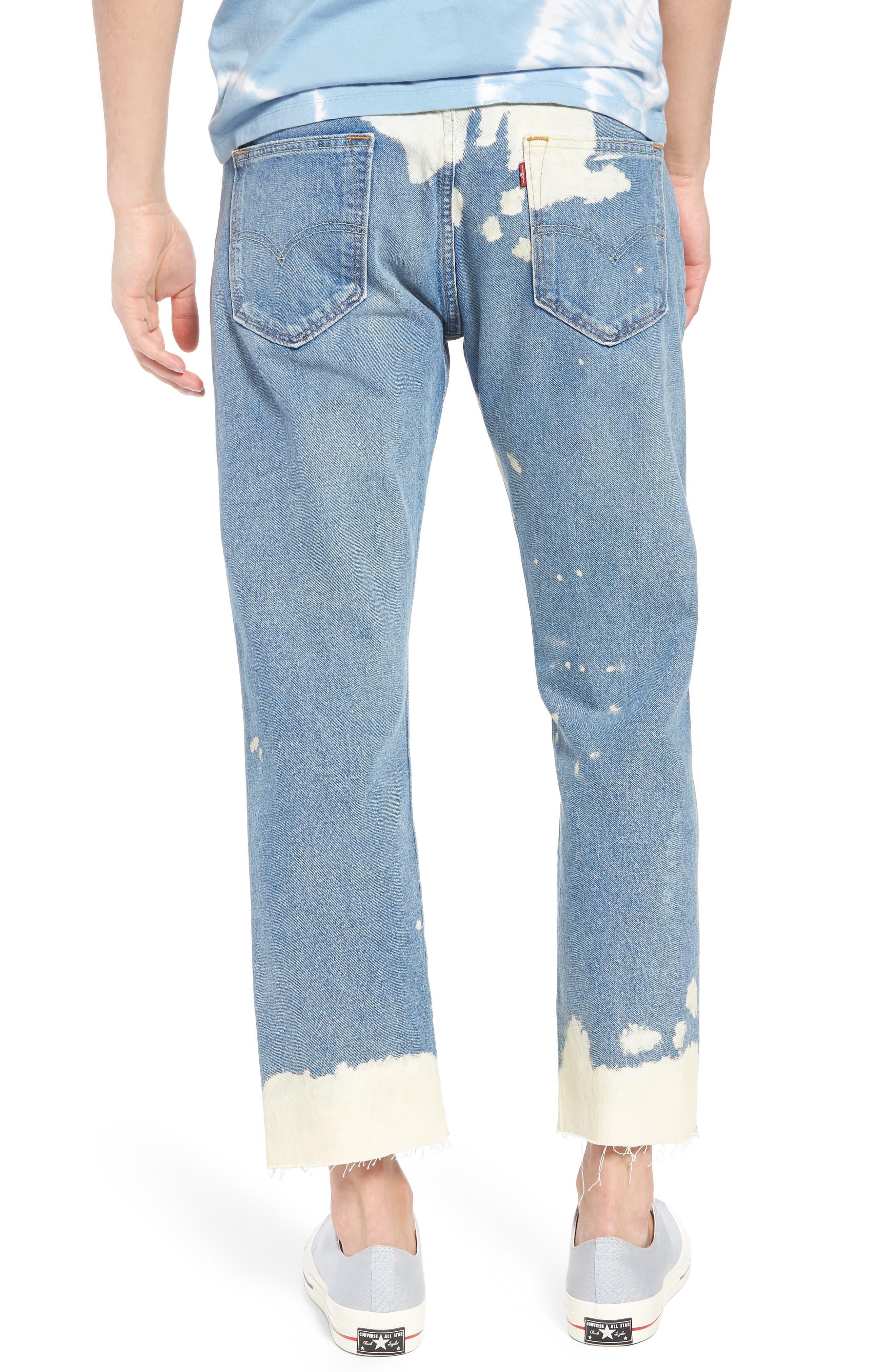 501<sup>®</sup> Original Straight Leg Cutoff Jeans,                             Alternate thumbnail 2, color,                             Baez
