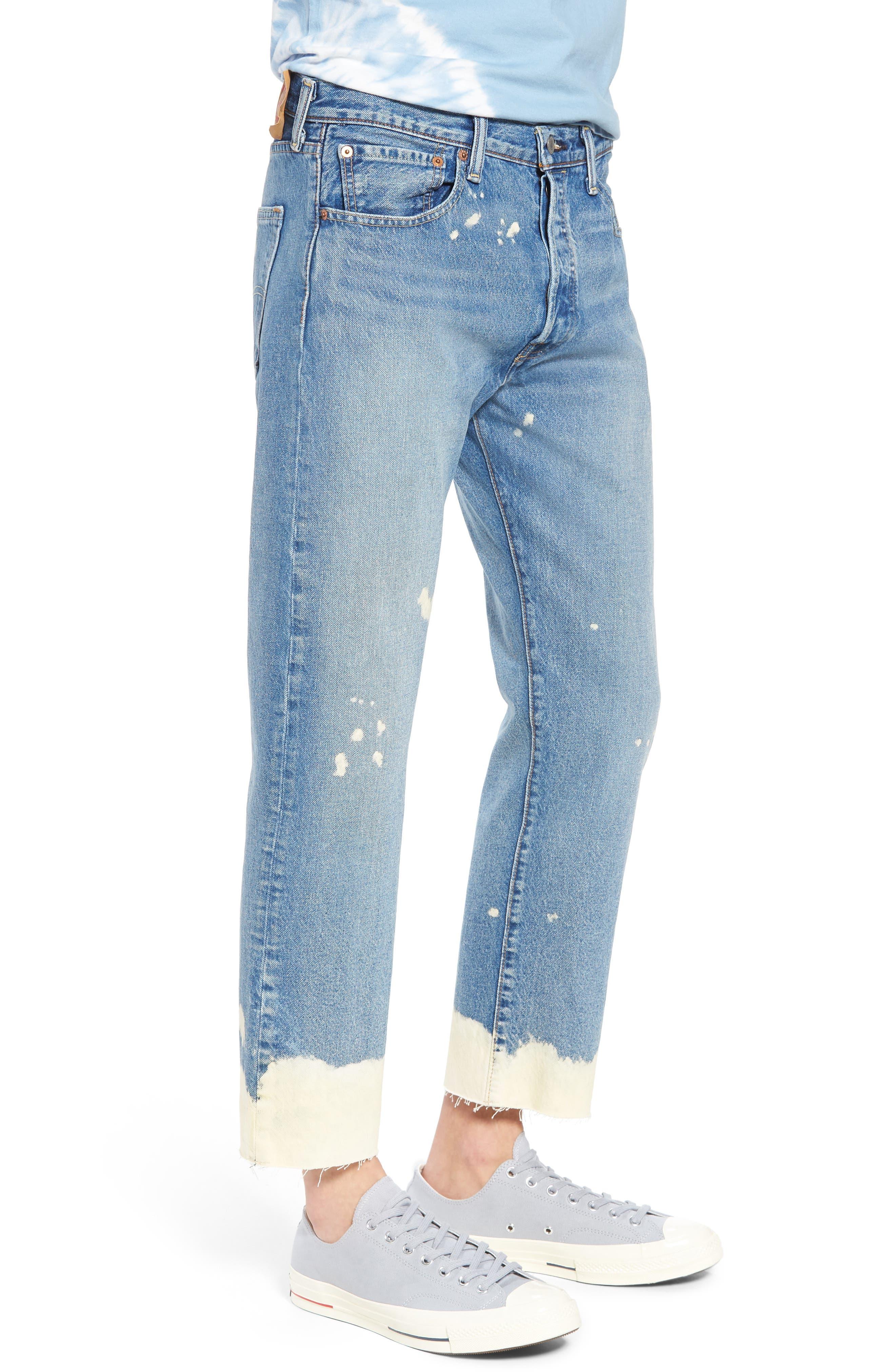 501<sup>®</sup> Original Straight Leg Cutoff Jeans,                             Alternate thumbnail 3, color,                             Baez