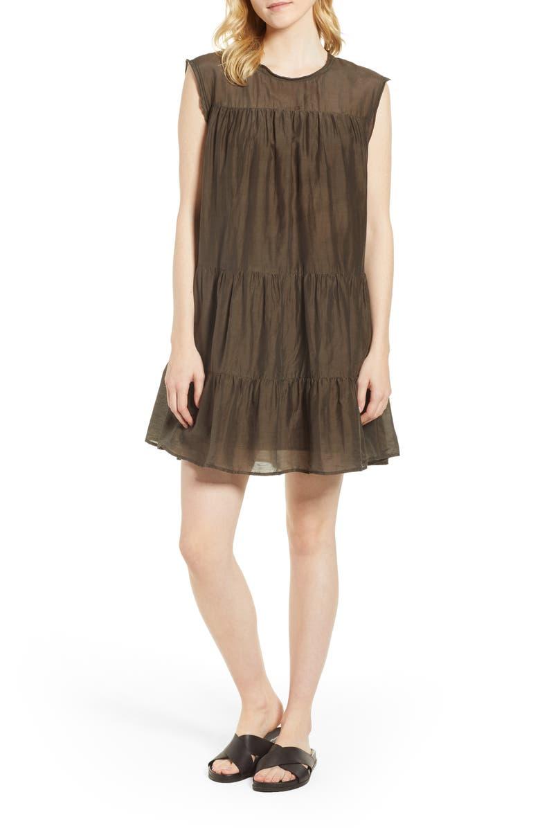 Cotton Silk Voile Tiered Dress