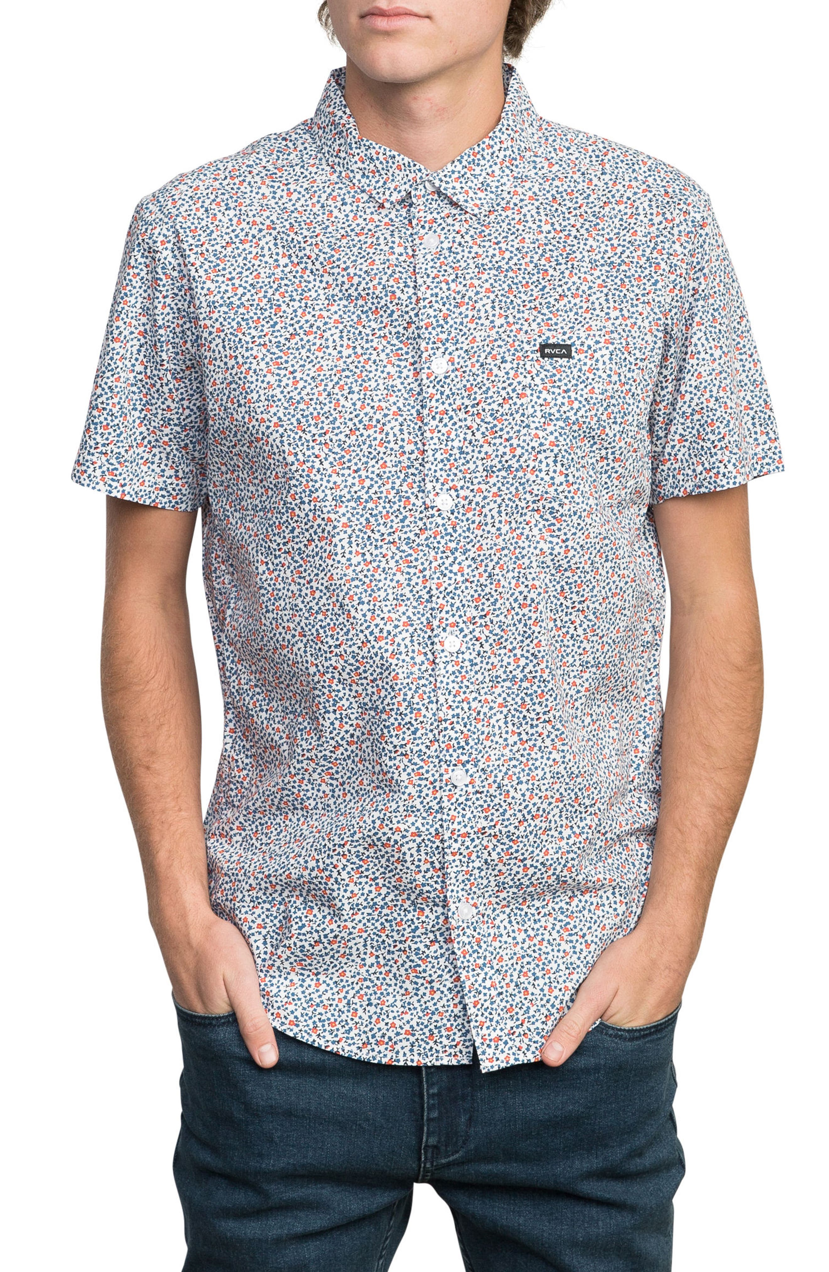 Happy Thoughts Woven Shirt,                         Main,                         color, White