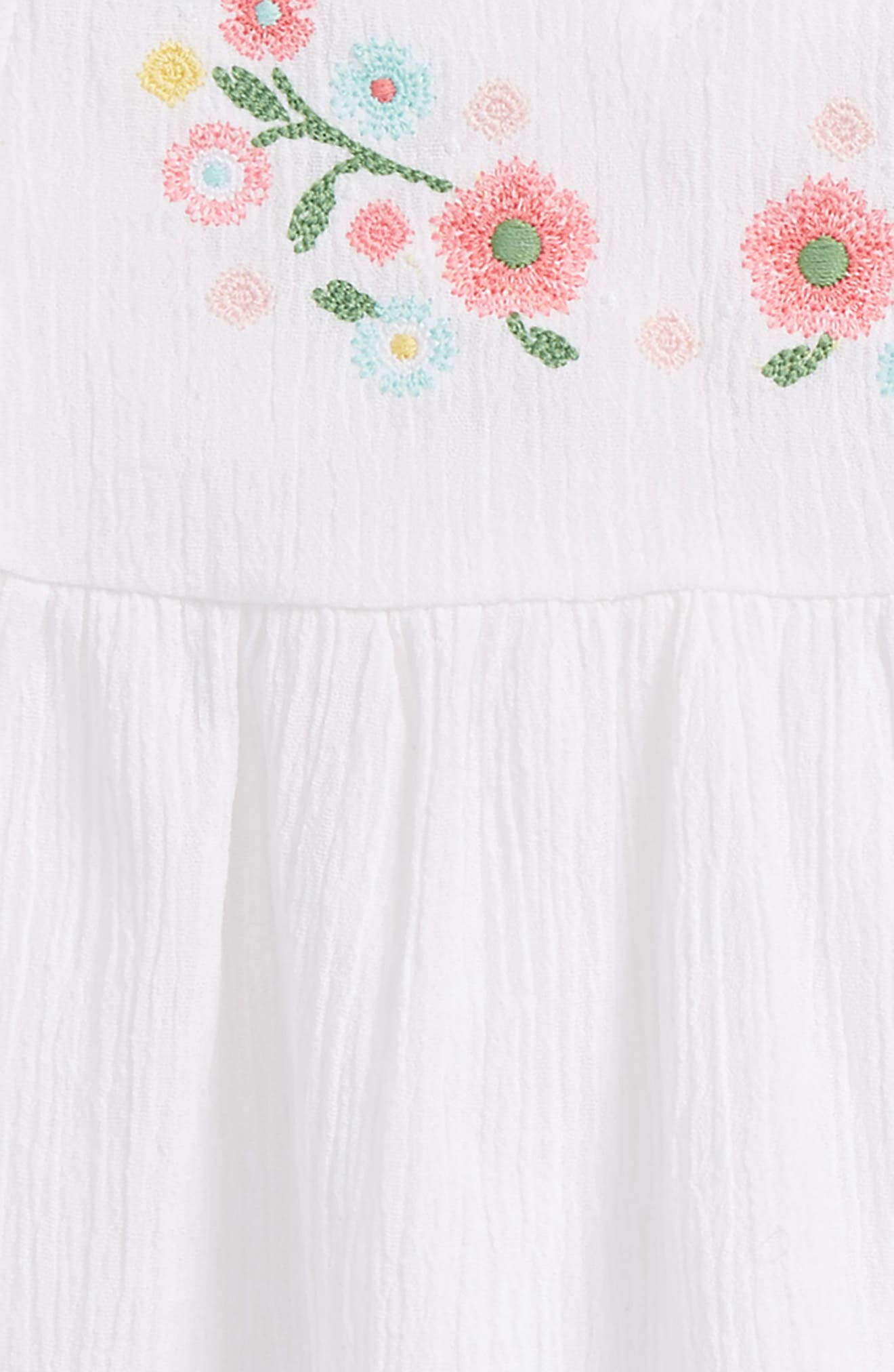 Tropical Crinkle Cotton Dress,                             Alternate thumbnail 2, color,                             White