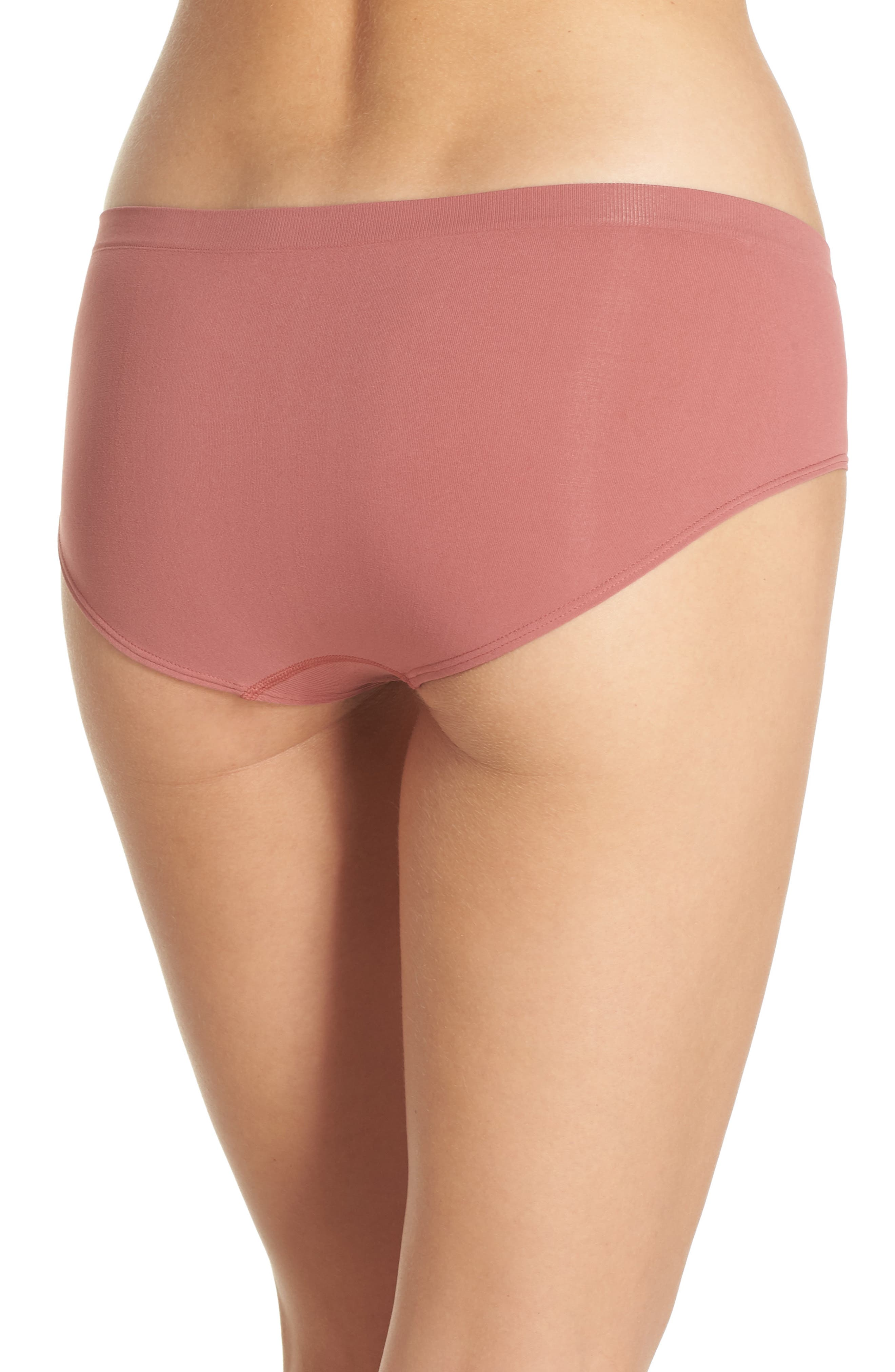 Seamless Hipster Briefs,                             Alternate thumbnail 2, color,                             Pink Taffy