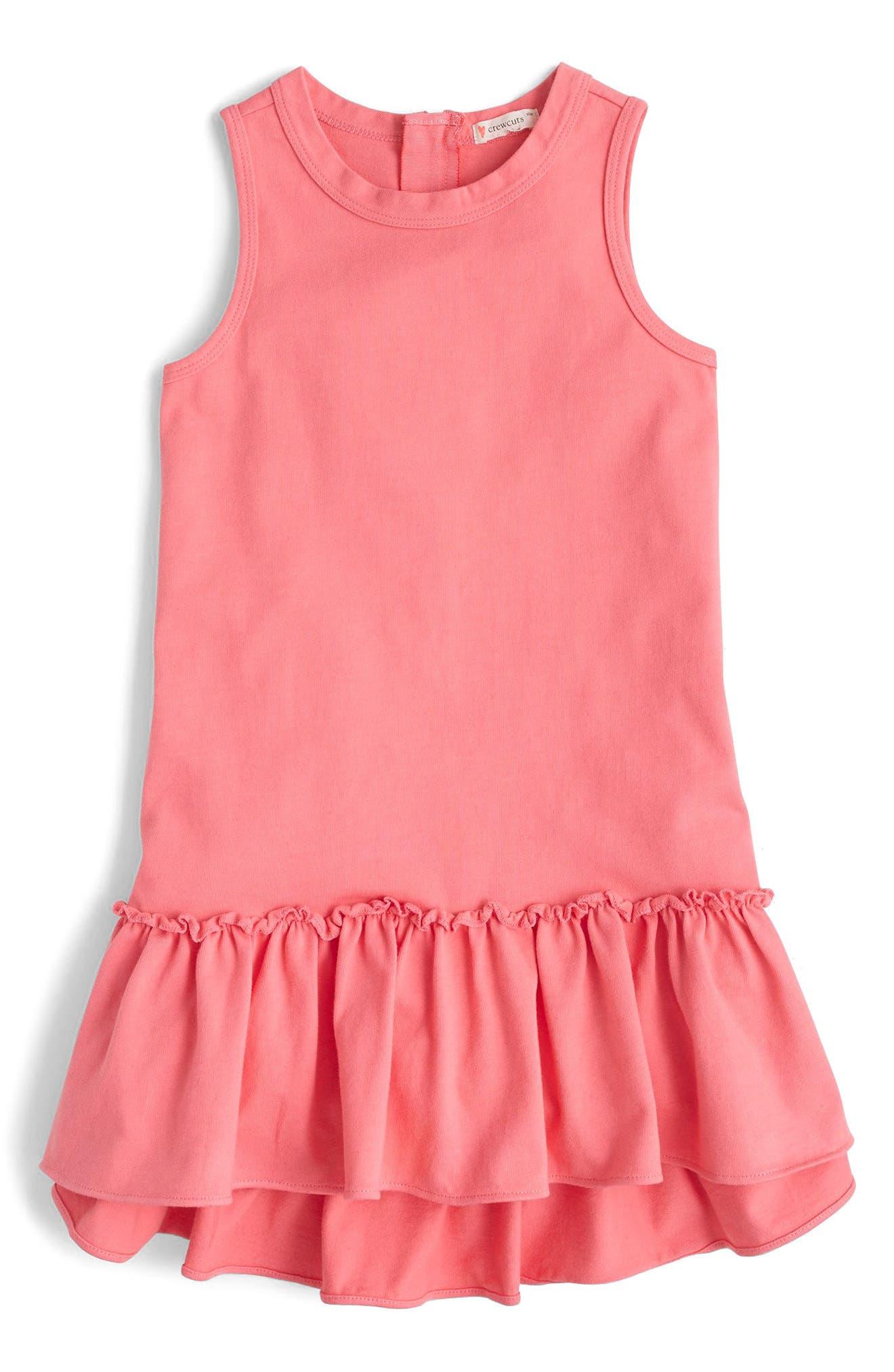 crewcuts by J.Crew Billy Ruffle Hem Knit Dress (Toddler Girls, Little Girls, Big Girls)