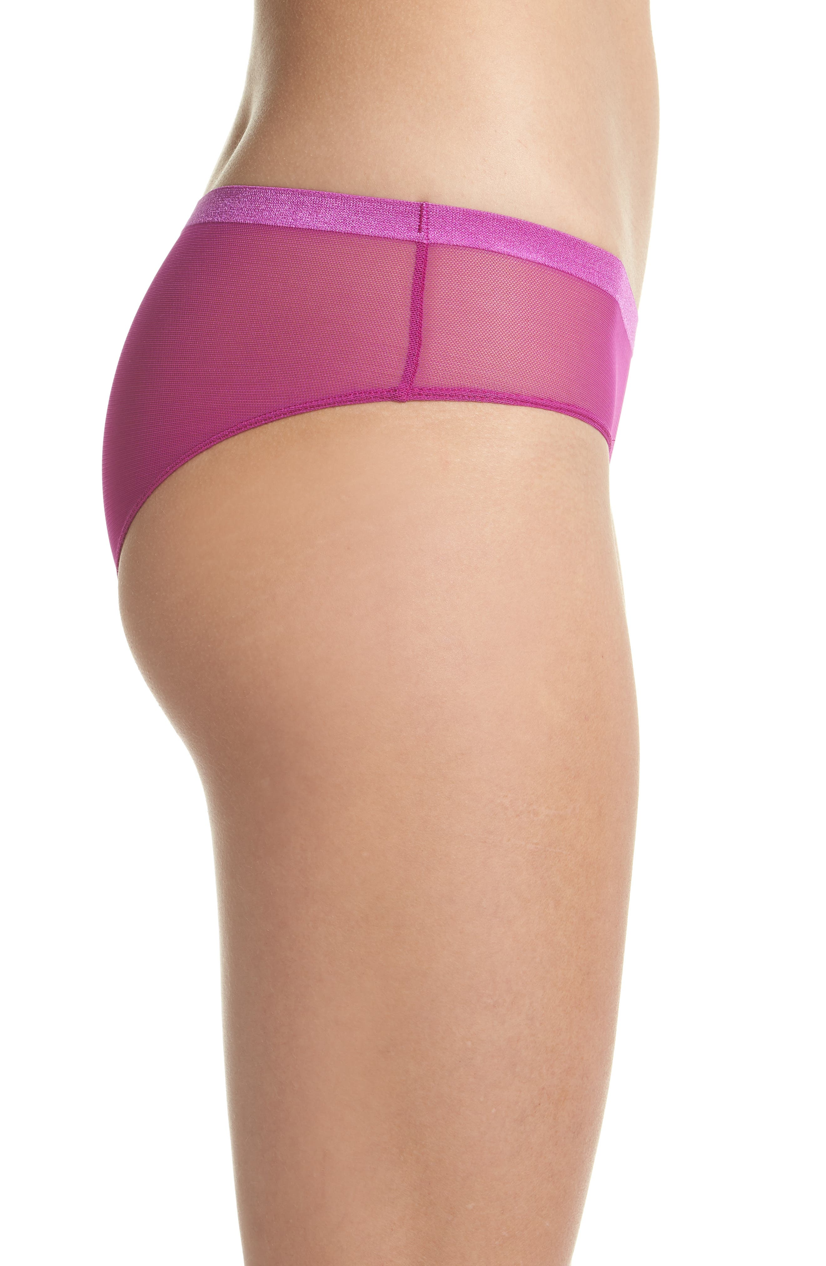 Roxanne Hipster Briefs,                             Alternate thumbnail 3, color,                             Pink