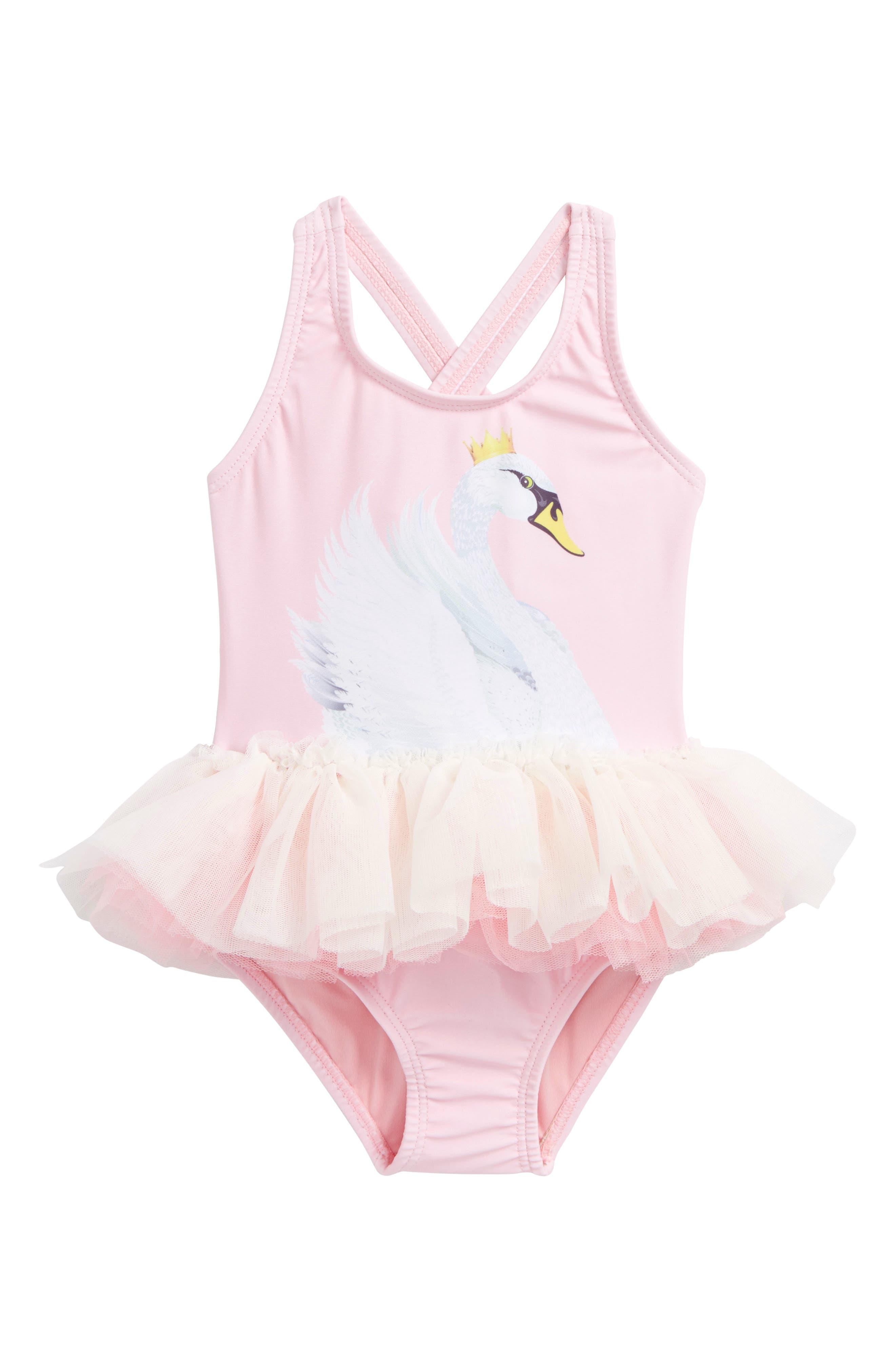 Rock Your Baby Swan Lake Tulle Tutu Bodysuit (Baby Girls)